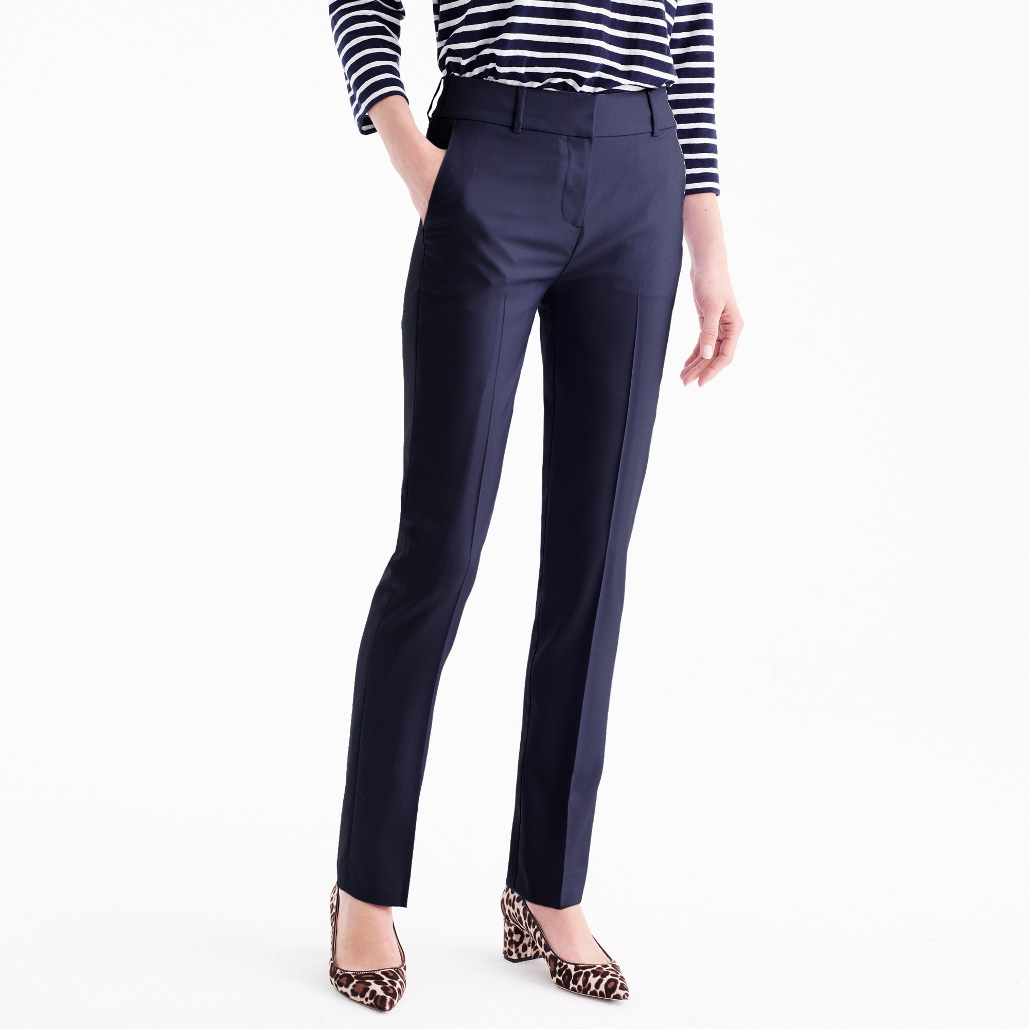 tall tailored trouser in italian super 120s wool : women super 120s