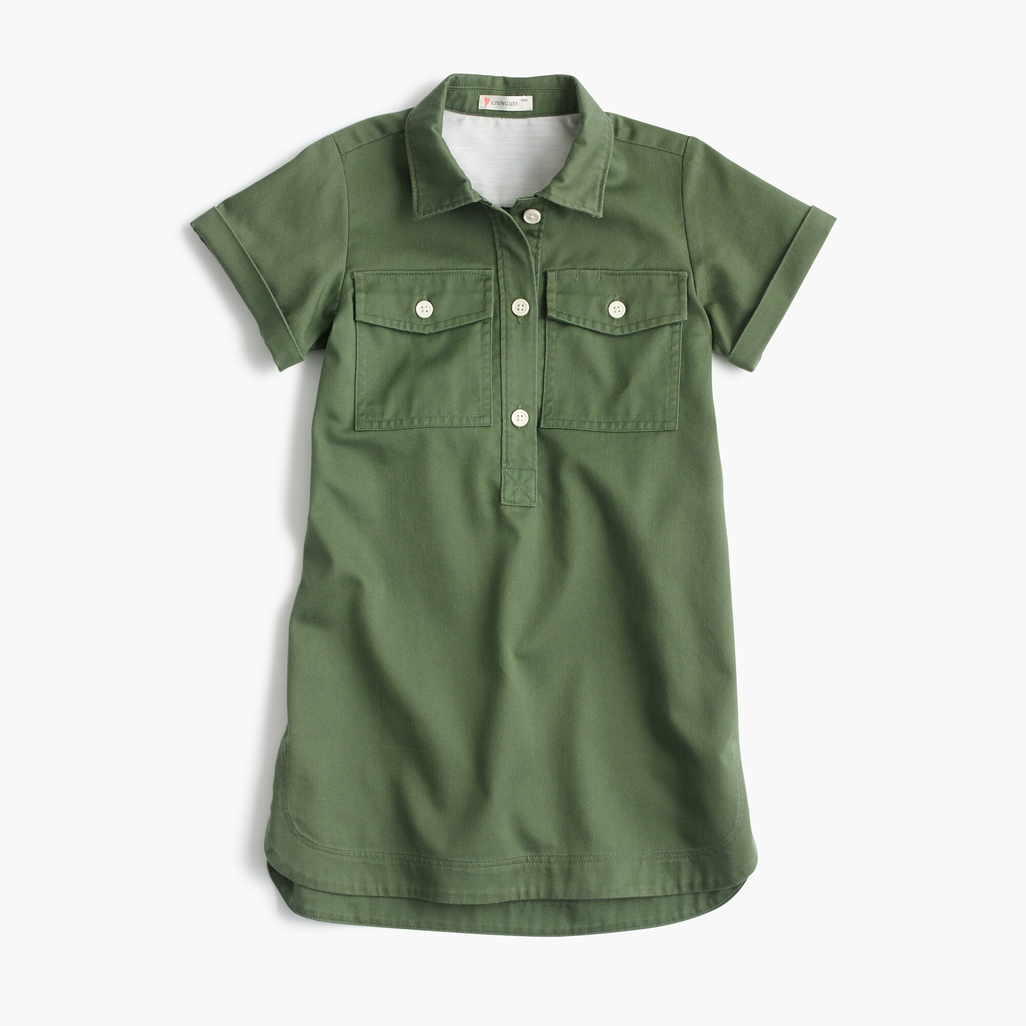 Girls' short-sleeve cadet dress