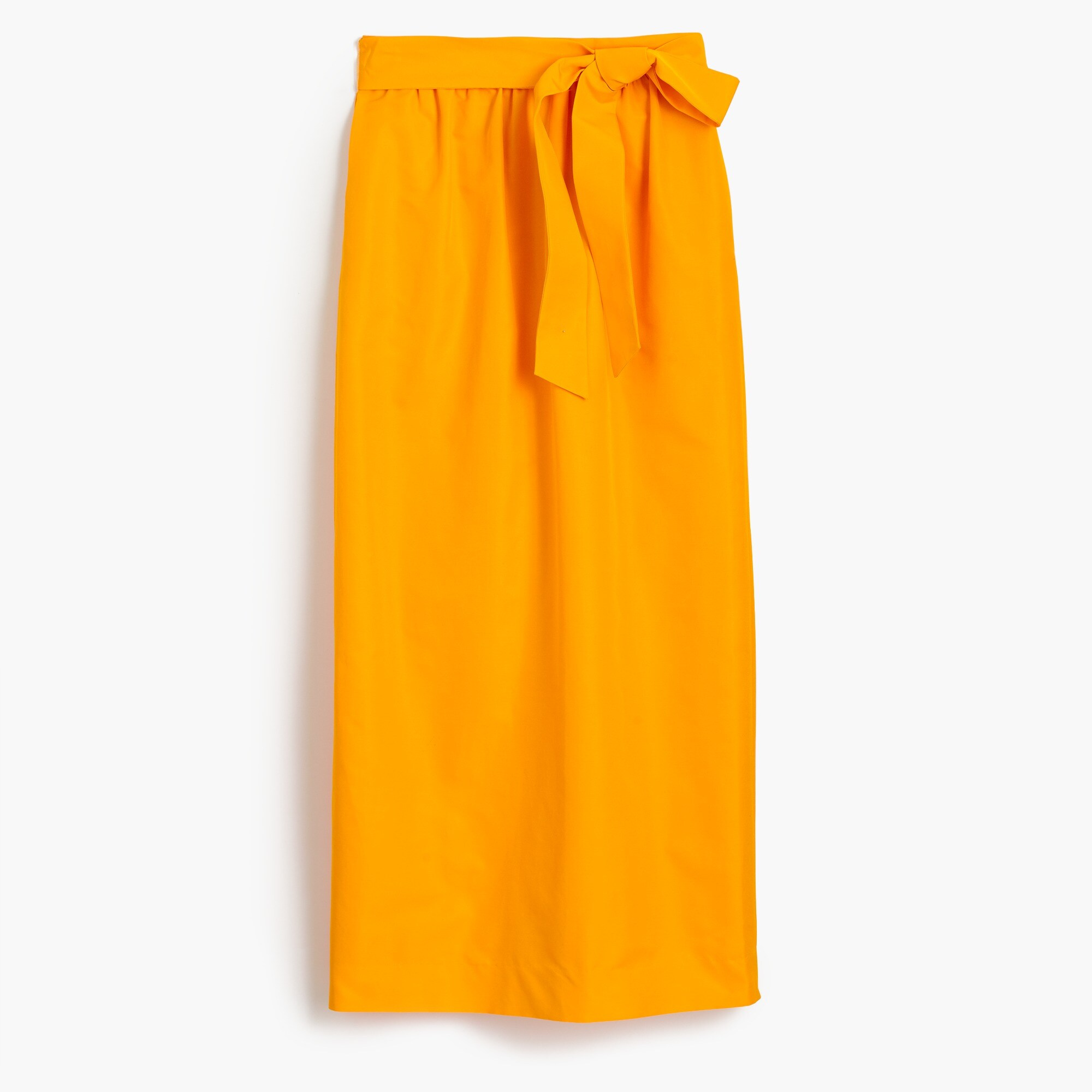 Petite tie-waist skirt in faille