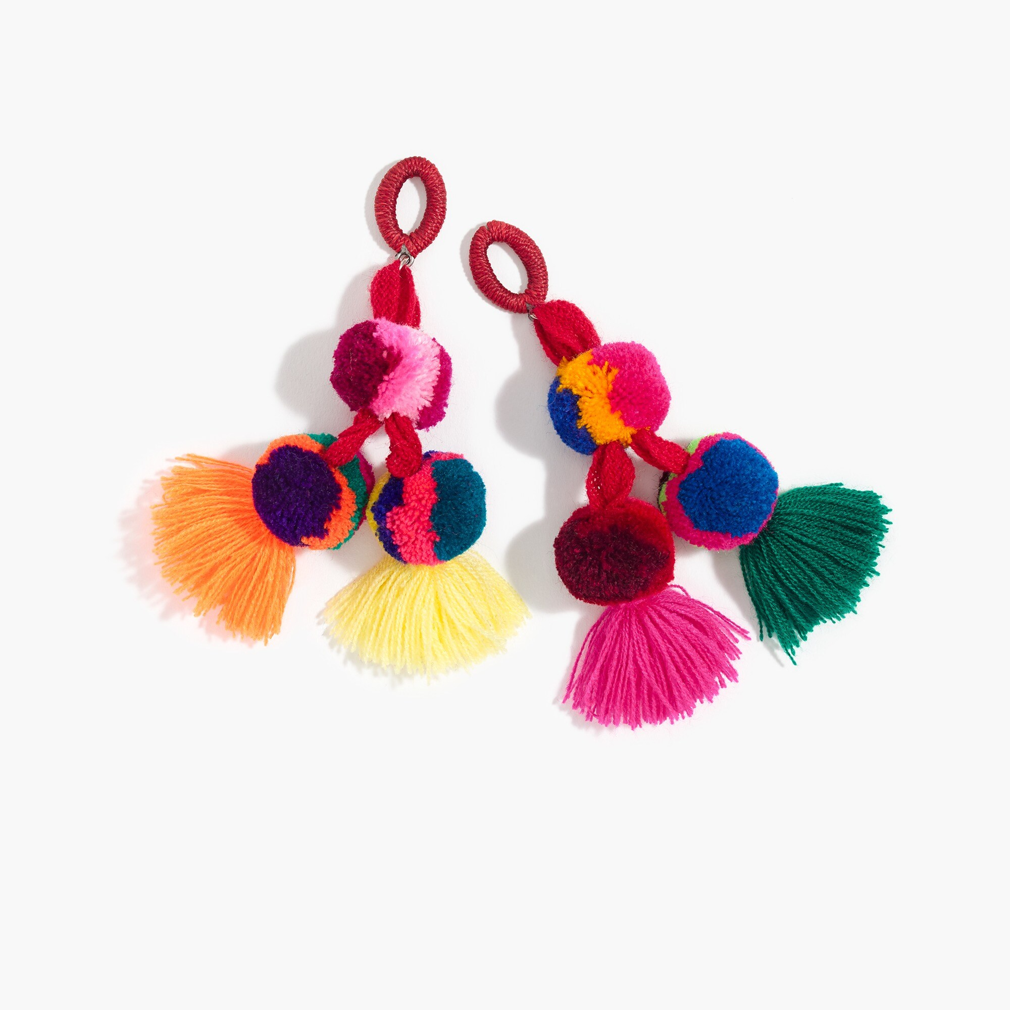women's nannacay for j.crew pom-pom earrings - women's jewelry