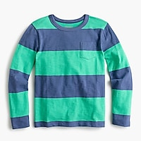 Boys' long-sleeve bright striped T-shirt
