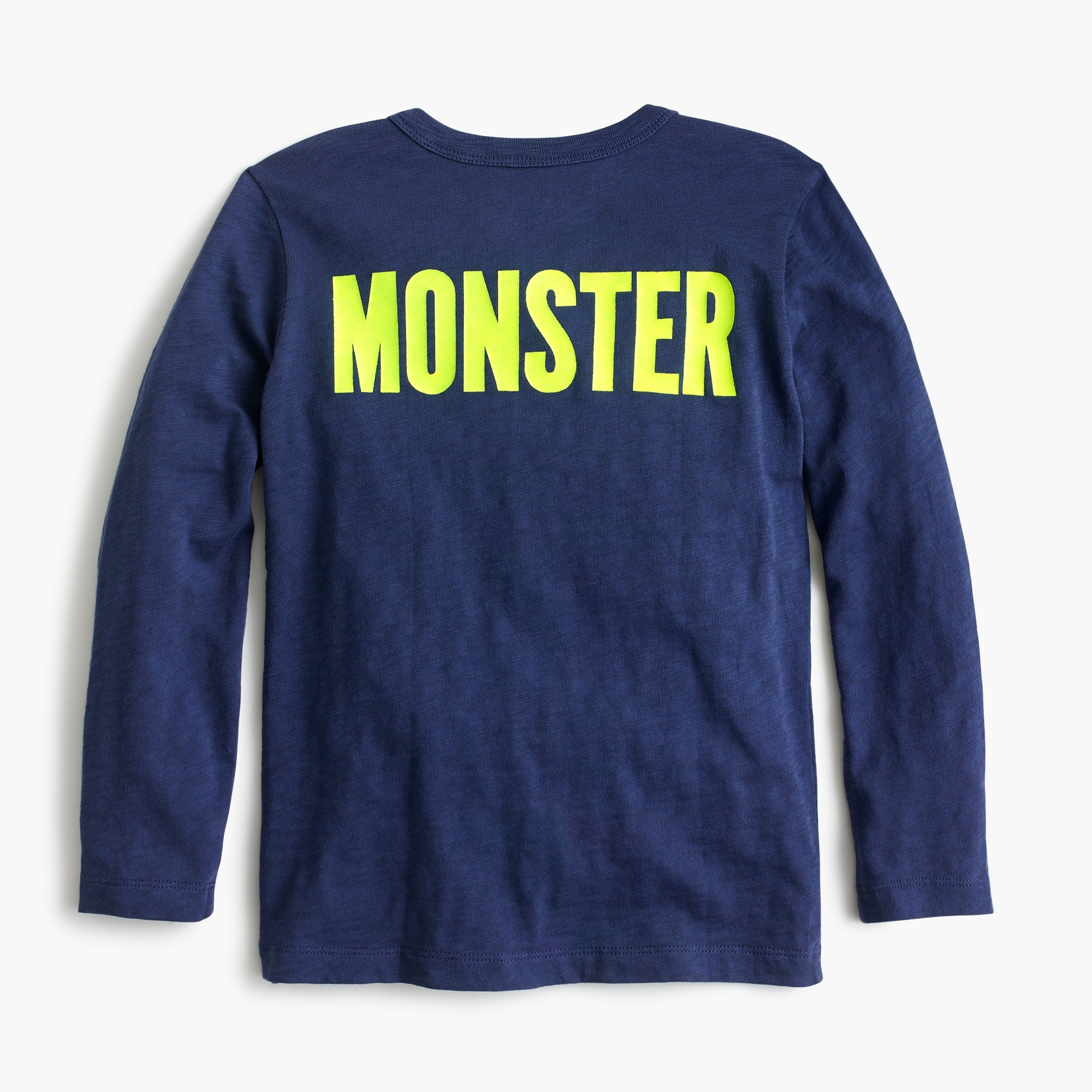 Boys' long-sleeve monster truck T-shirt