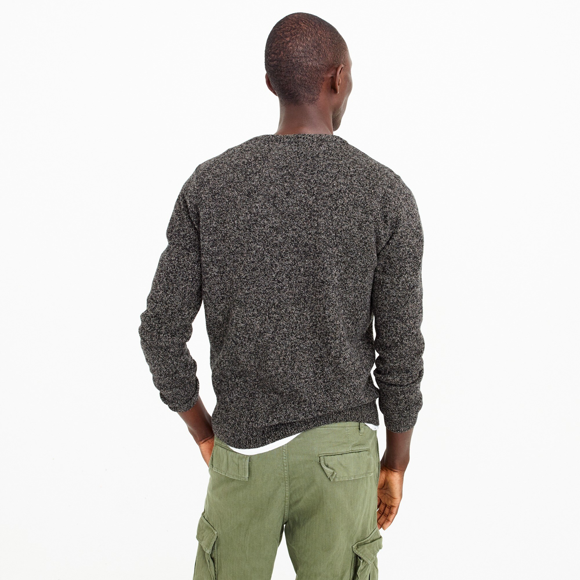 Image 3 for Slim lambswool V-neck sweater