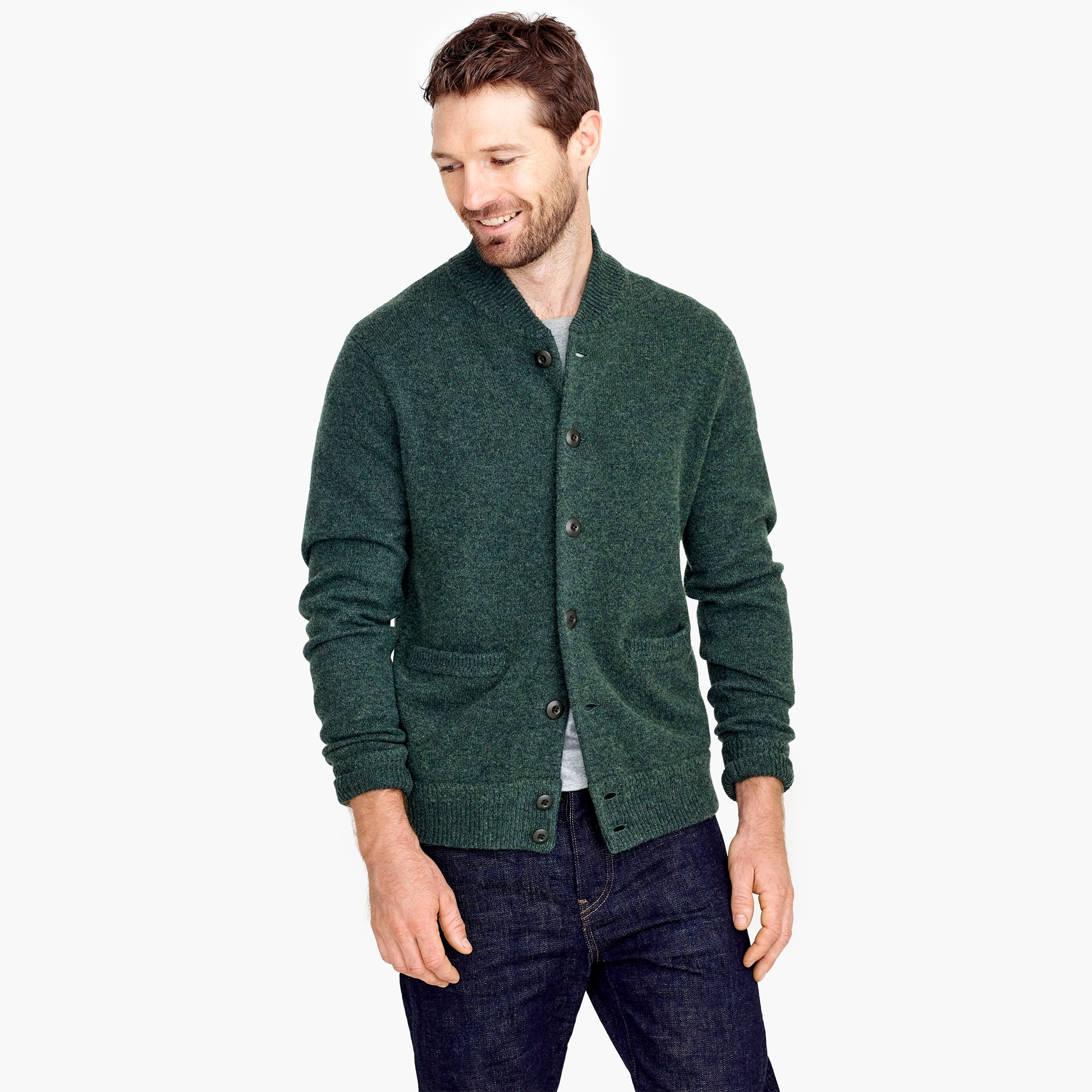 mens Lambswool bomber jacket