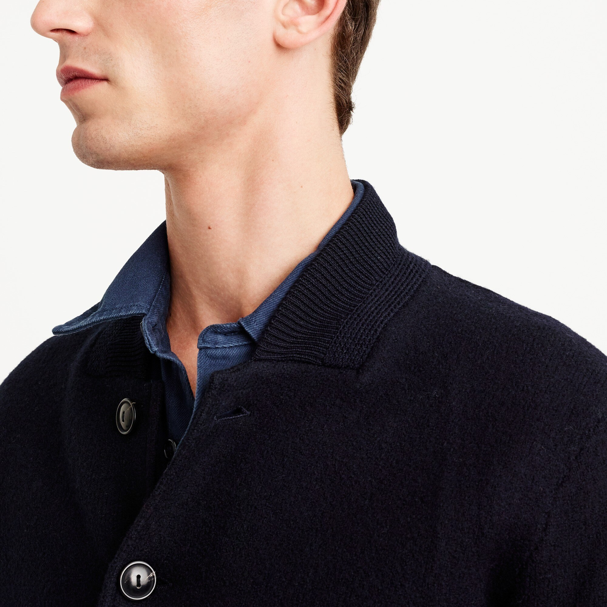 Wallace & Barnes bomber jacket in Italian merino wool