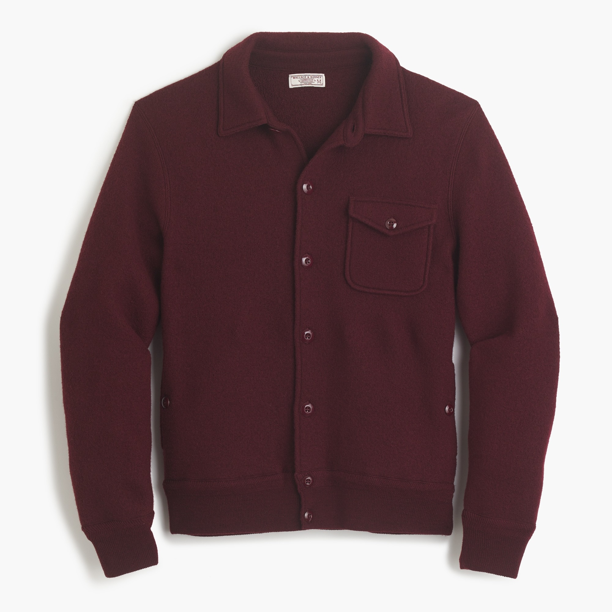 Wallace & Barnes sweater-jacket in Italian merino wool