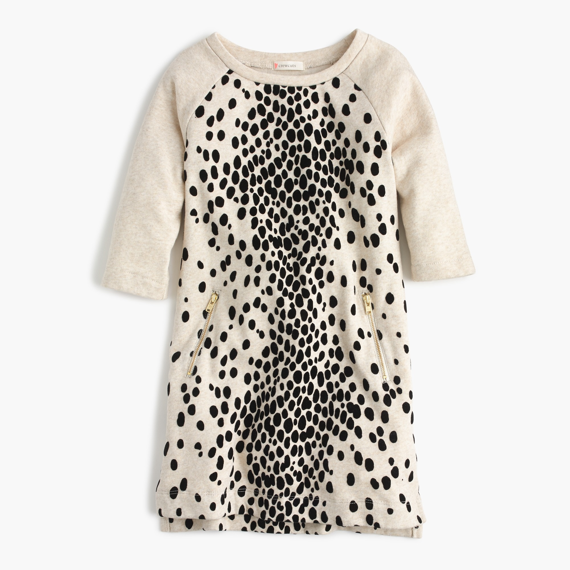Girls' leopard-flocked sweatshirt-dress
