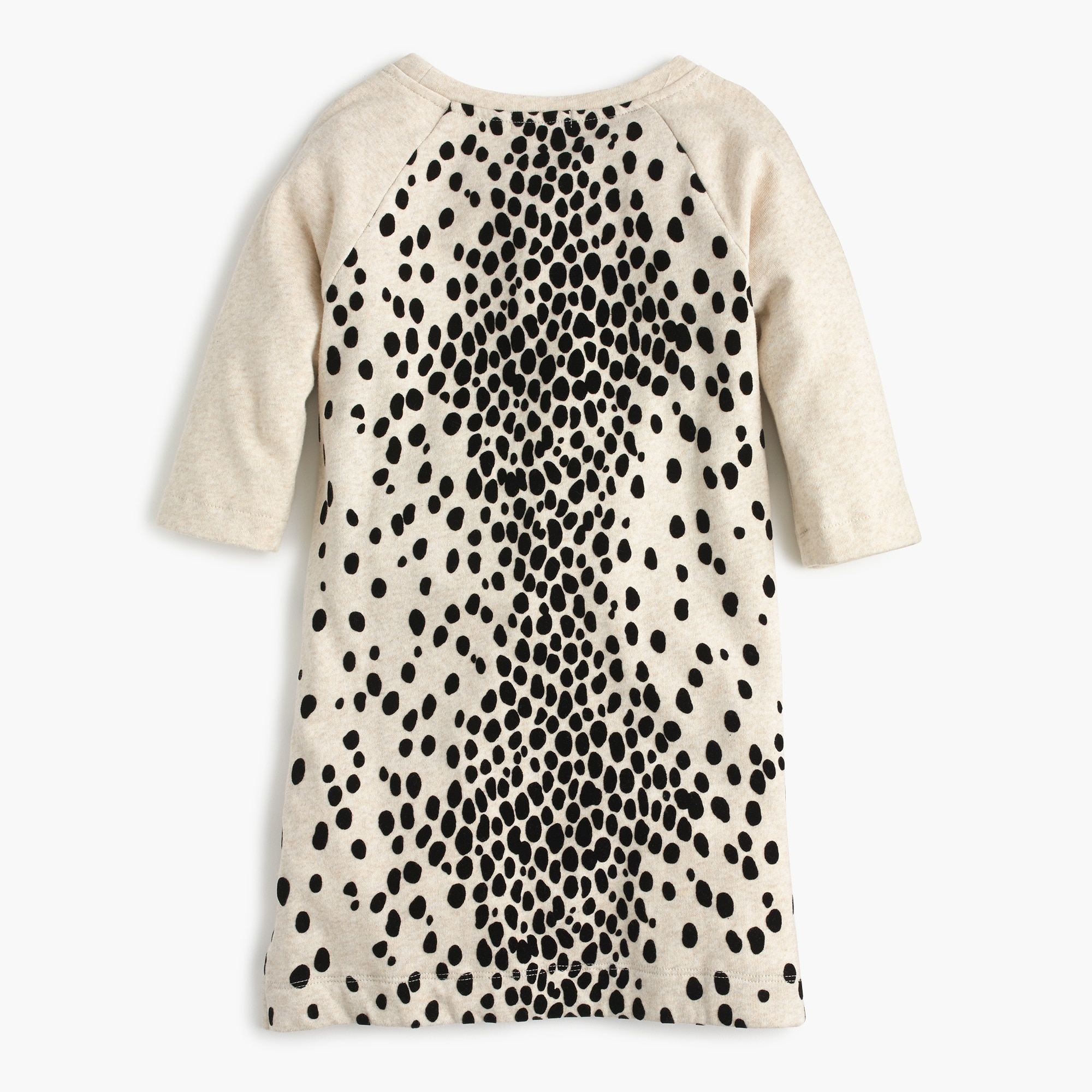 Image 2 for Girls' leopard-flocked sweatshirt-dress