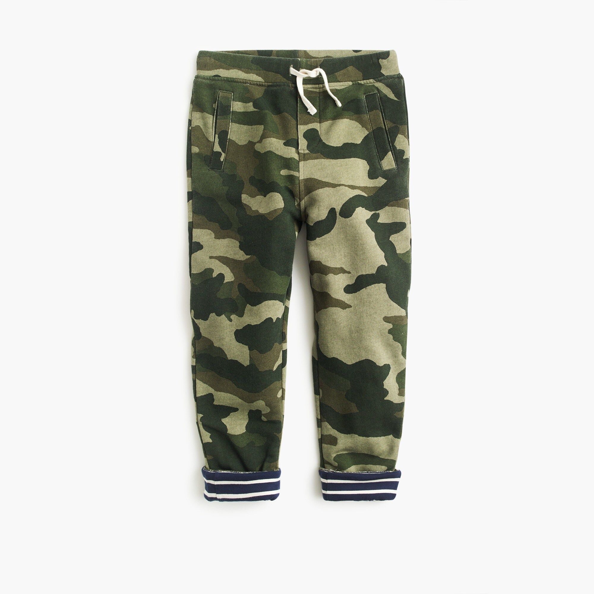 Boys' lined sweatpants in camo boy sweatshirts & sweatpants c