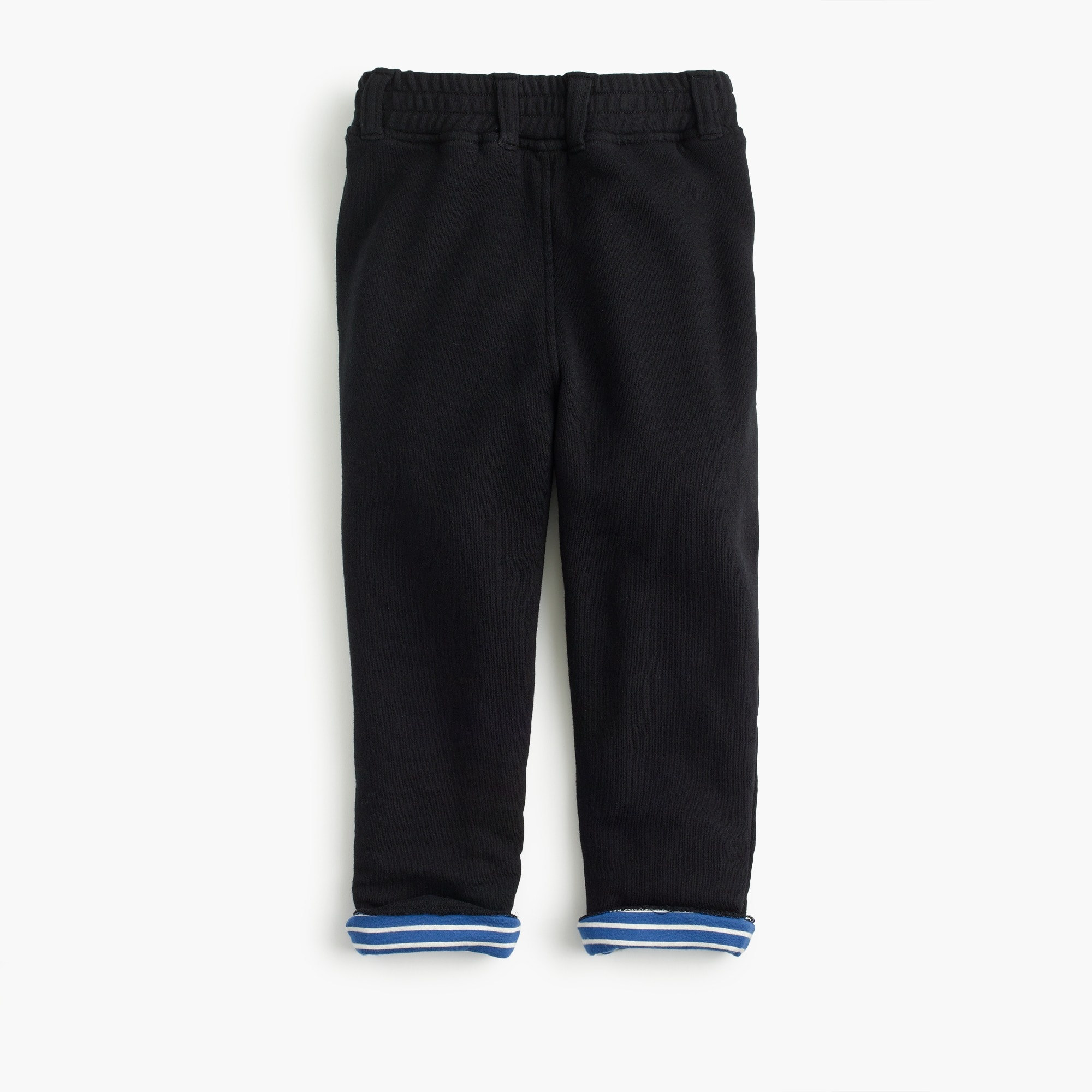 Boys' button-front stripe-lined sweatpants