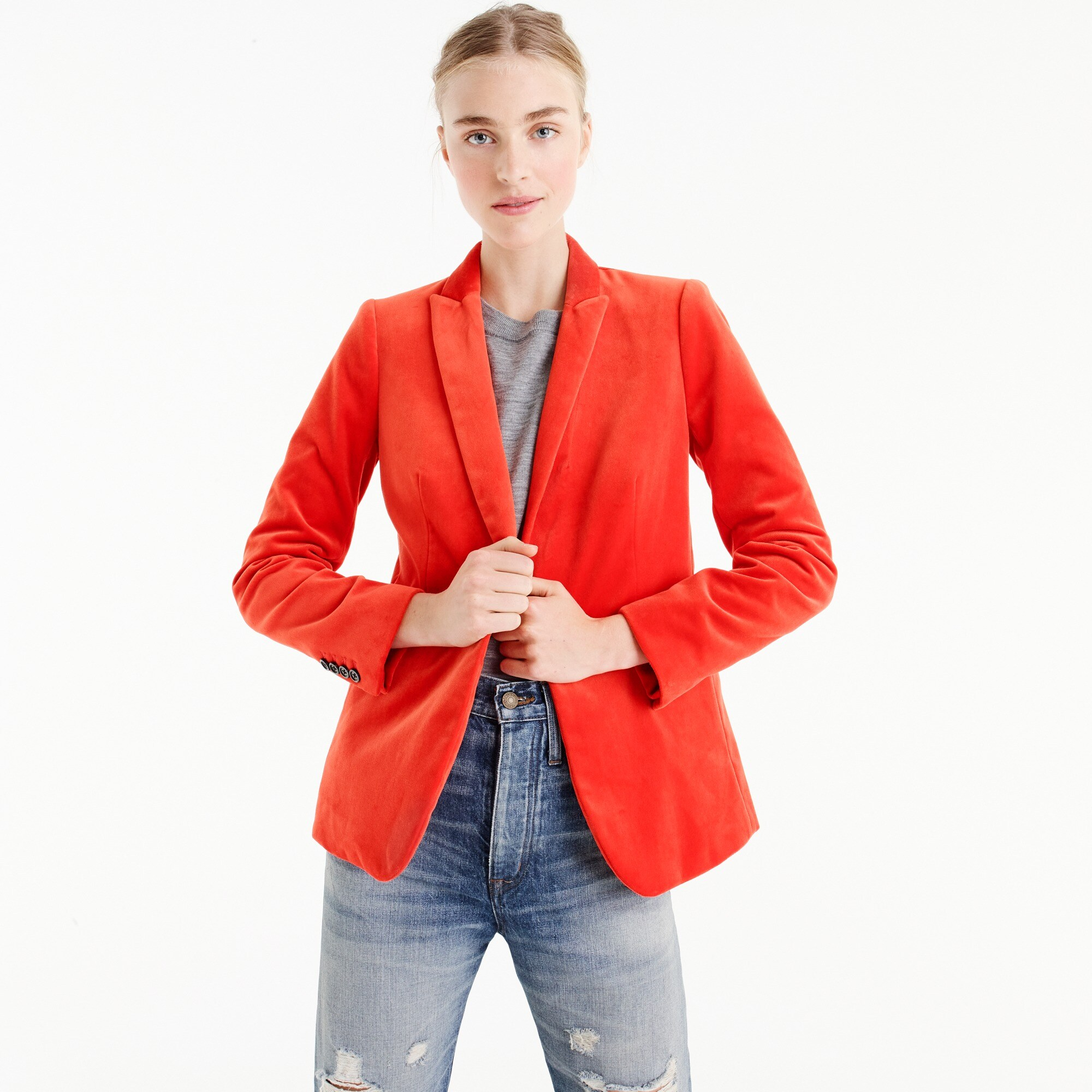 parke blazer in velvet : women novelty