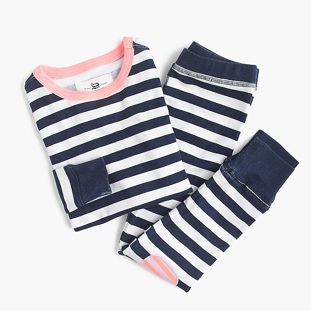 Kids' pajama set in mixed stripes
