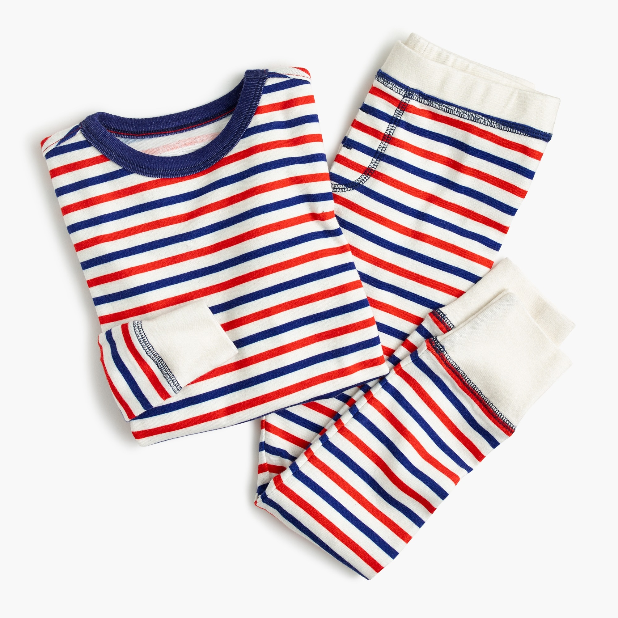 Kids' pajama set in stripes