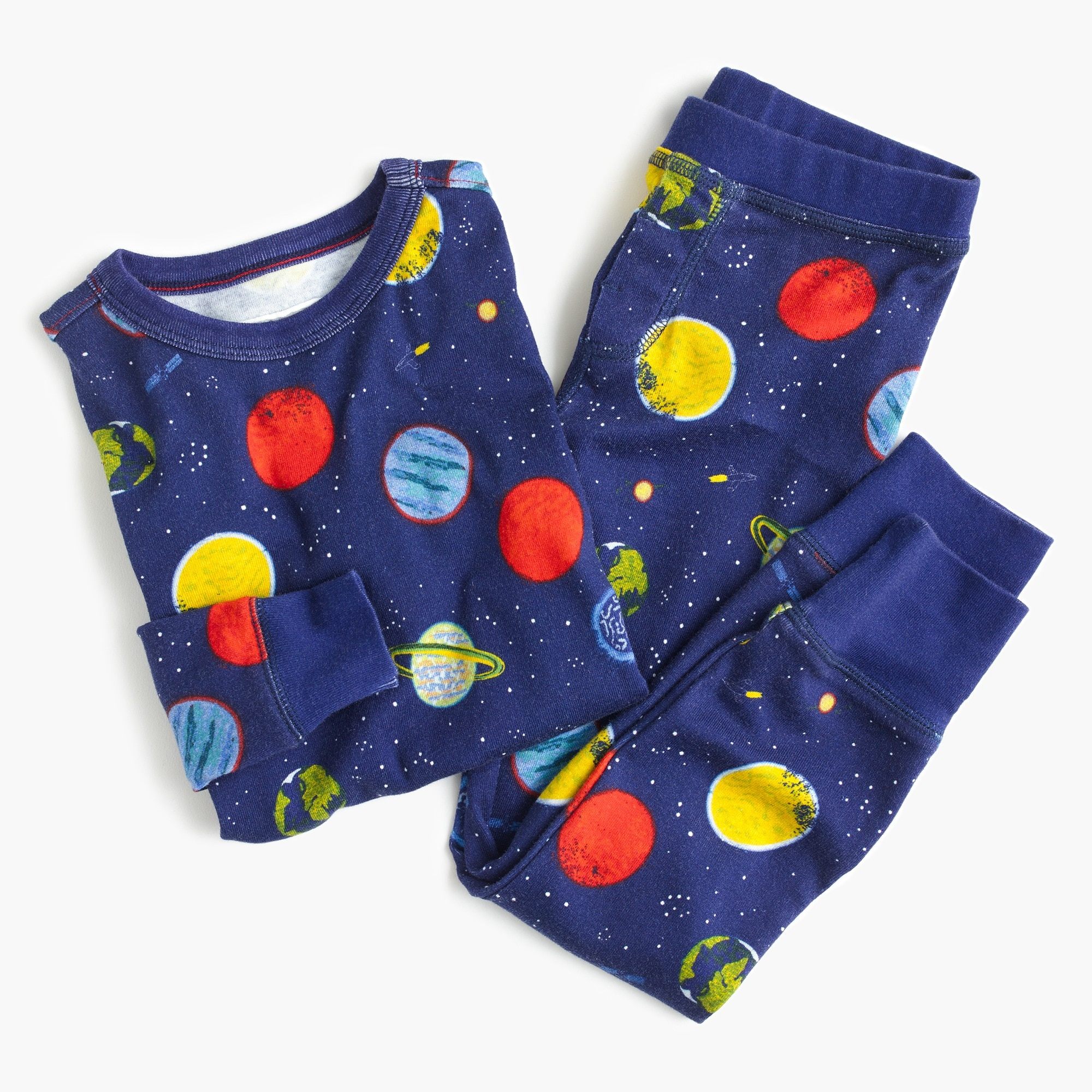 Kids' pajama set in planet print
