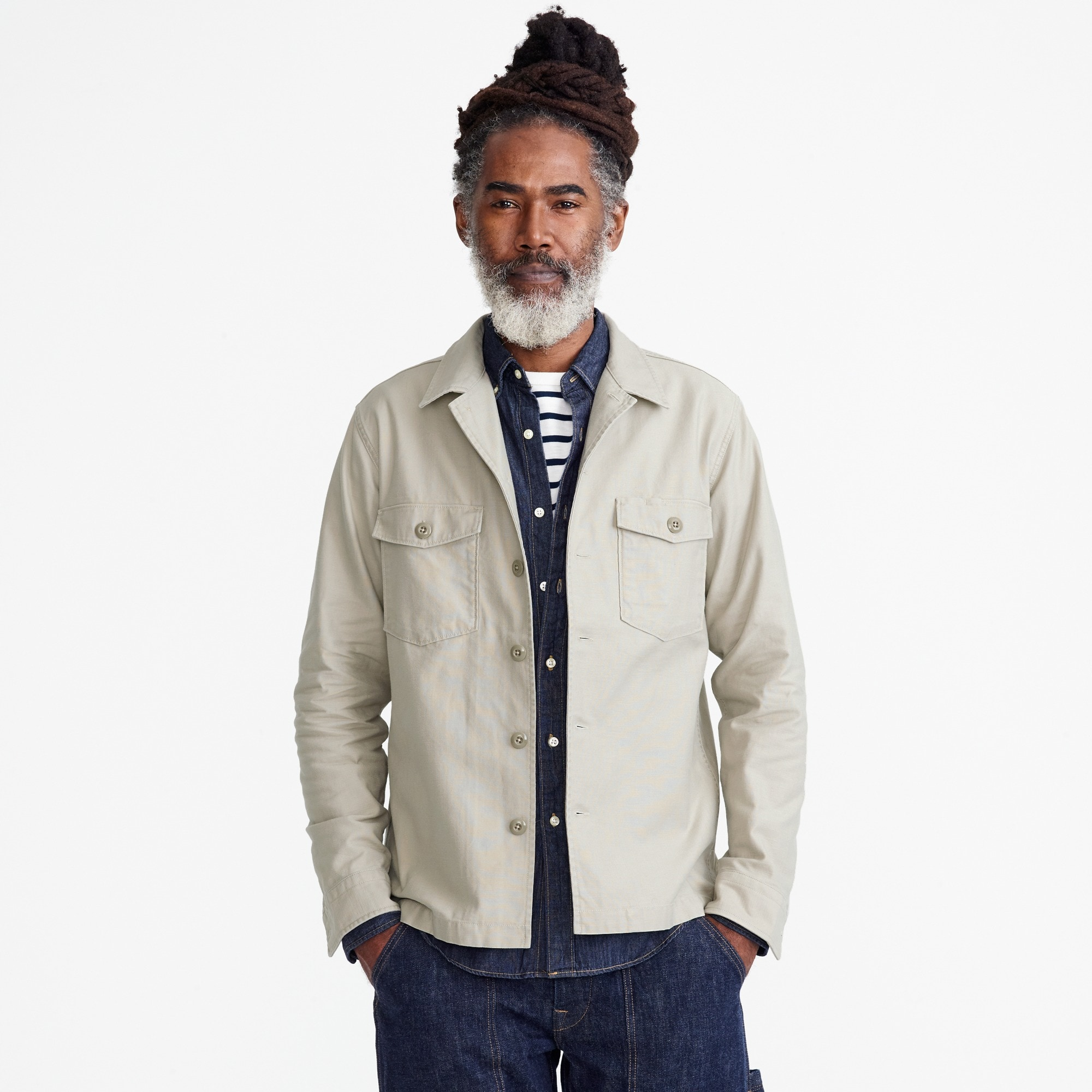 men's wallace & barnes military shirt-jacket