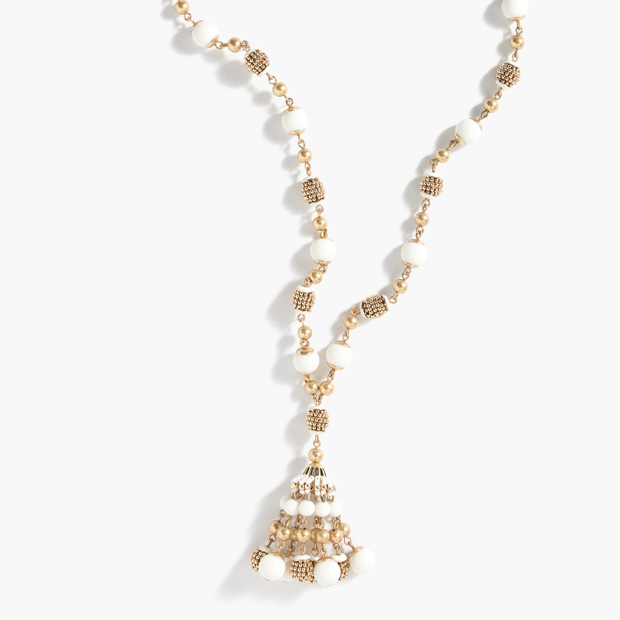 beaded drop necklace : women jewelry
