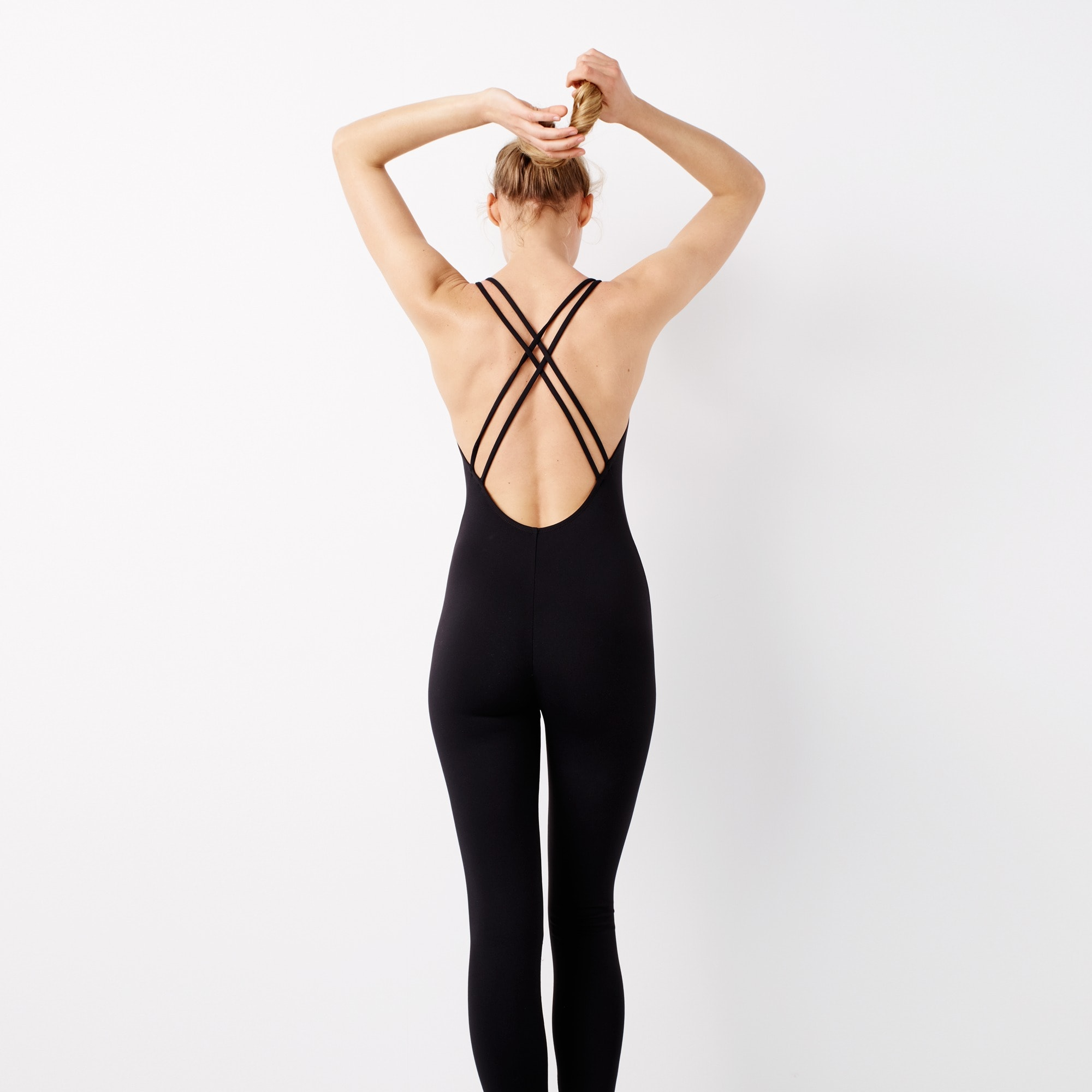 Full-length cross-back bodysuit