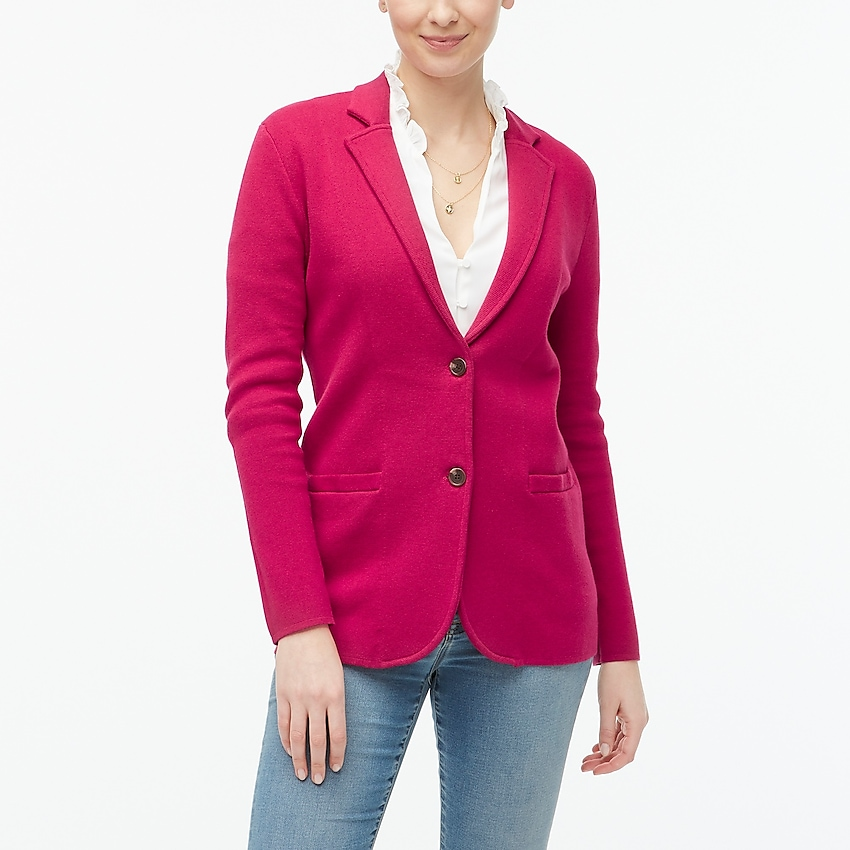 j.crew factory: sweater-blazer for women, right side, view zoomed