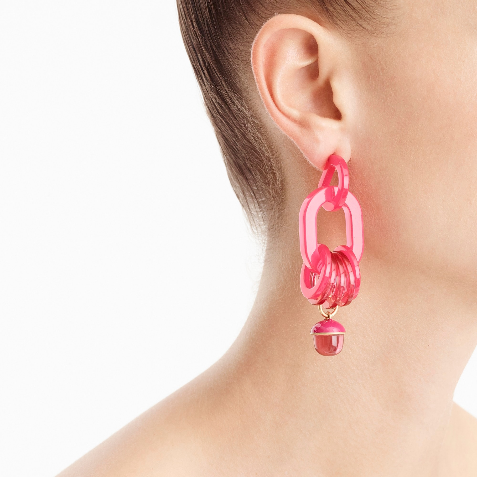 Bright begonia Lucite earrings