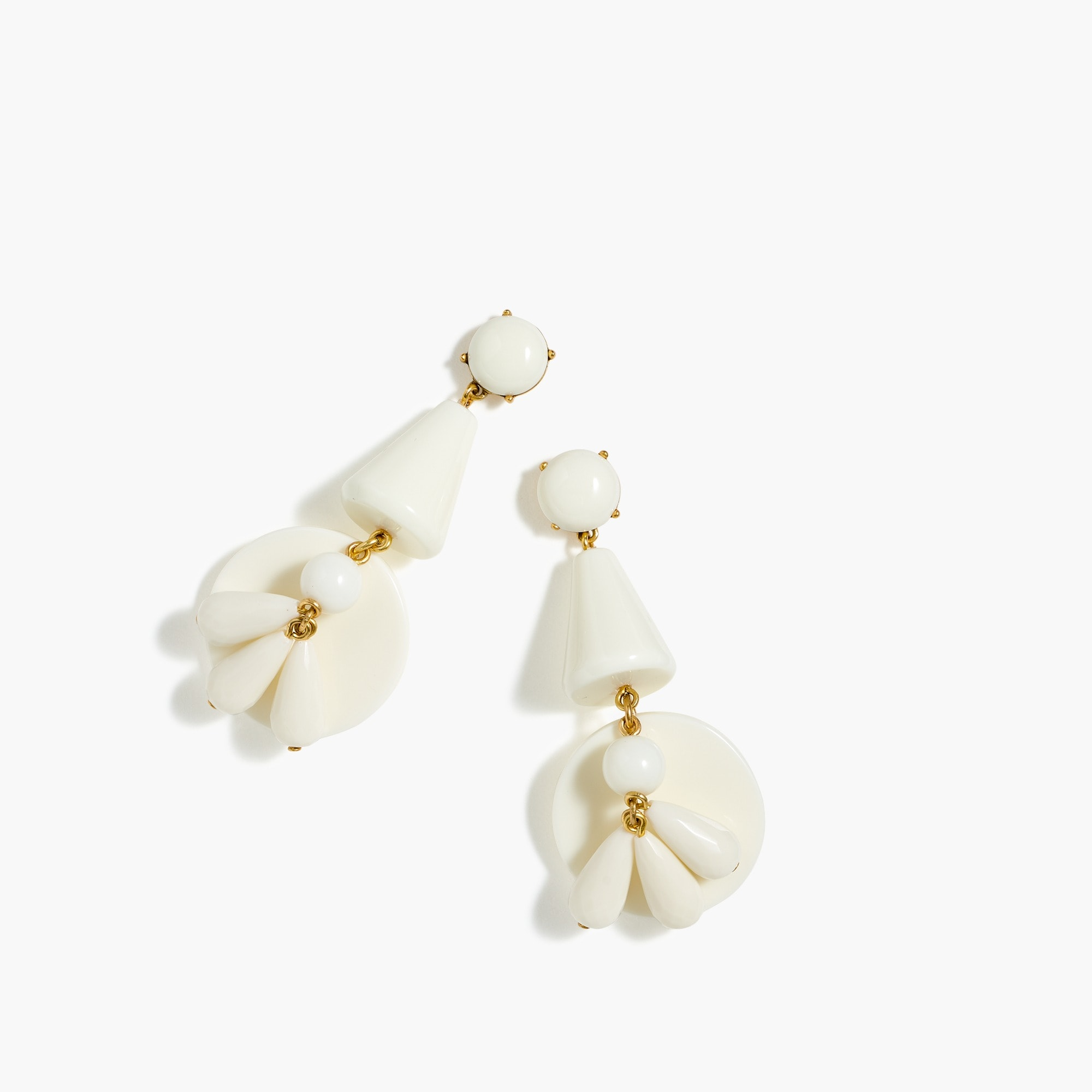 Ivory wind-bell earrings