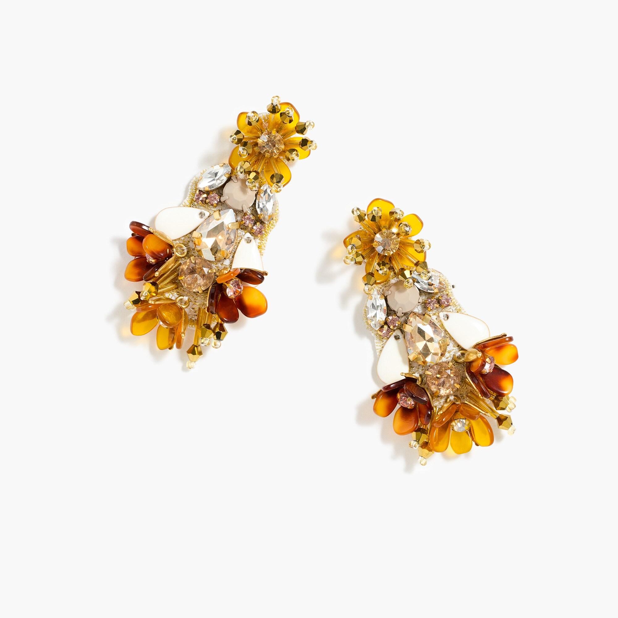 Dusty ivory chandelier earrings