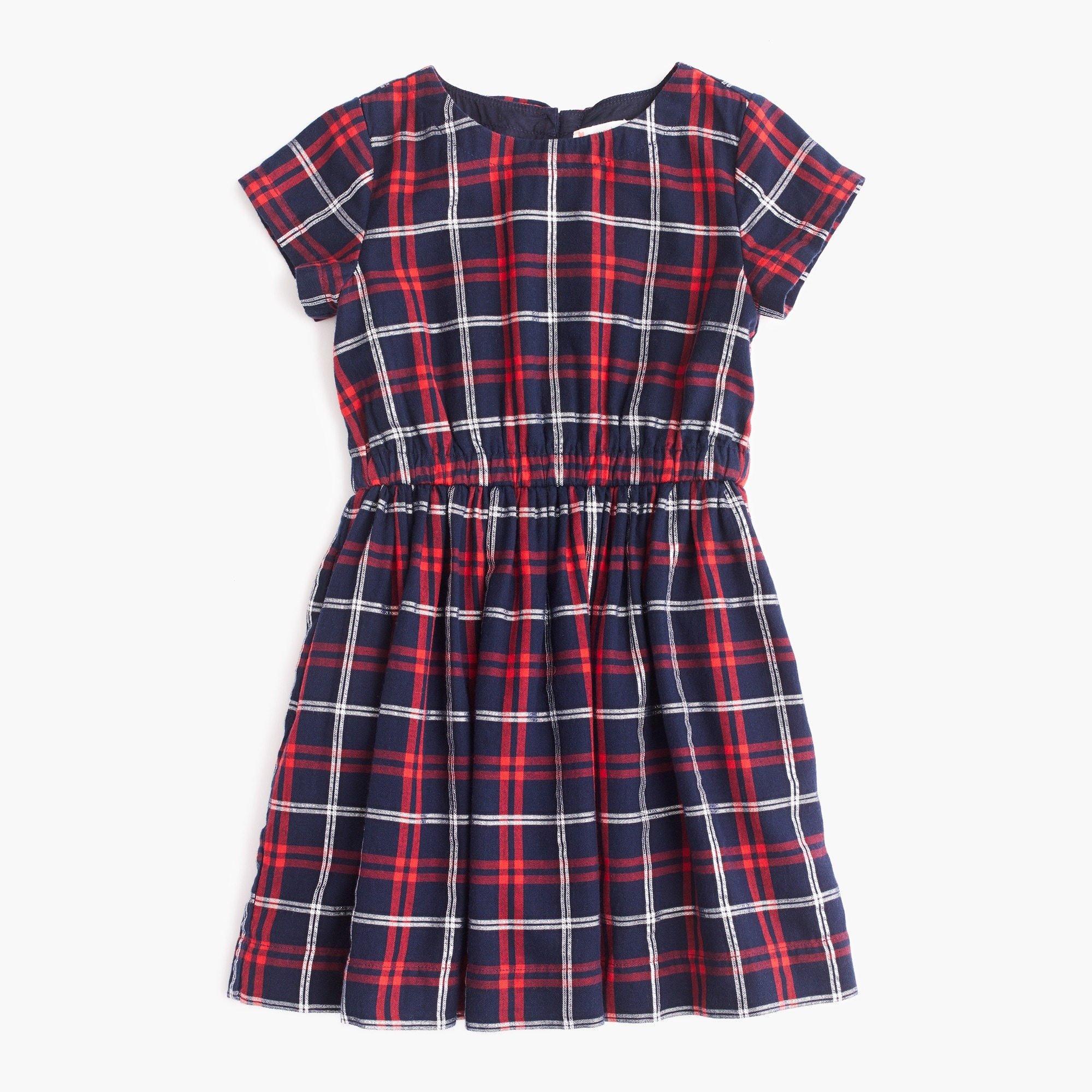 Girls' elastic-waist dress in sparkle plaid girl dresses c