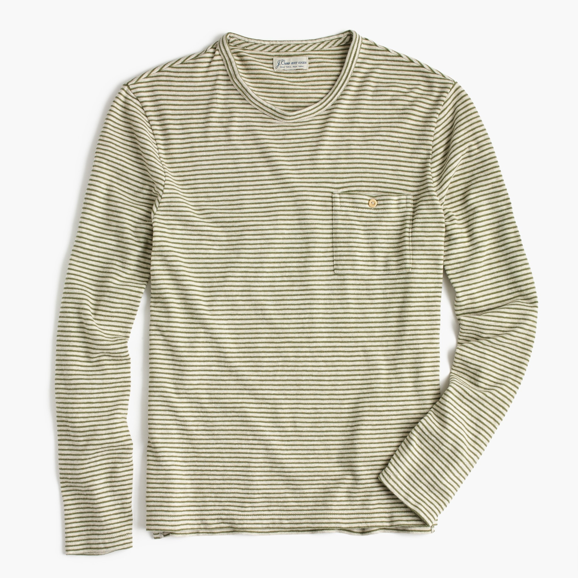 Striped long-sleeve T-shirt in jersey