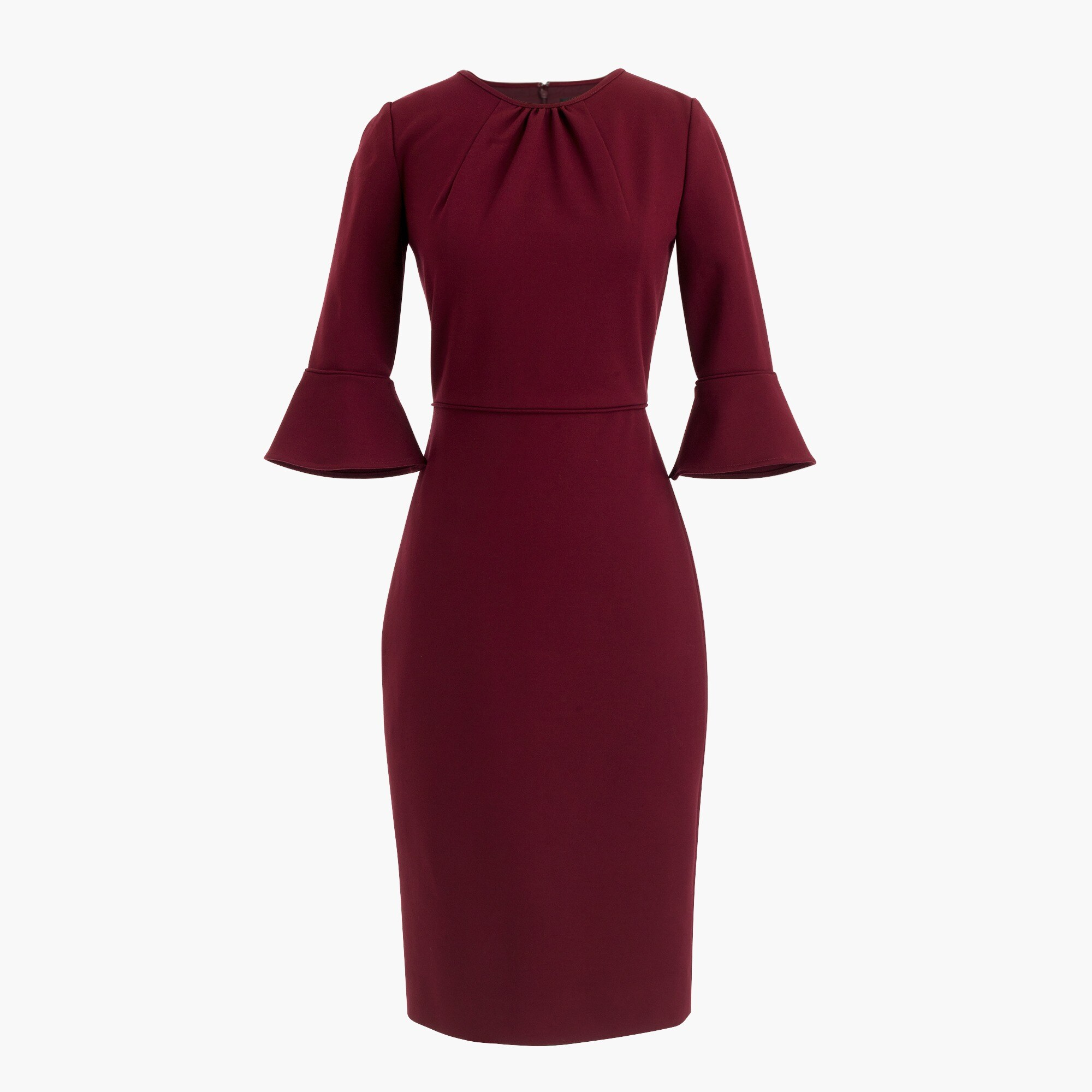 women's bell-sleeve sheath in stretch ponte - women's dresses