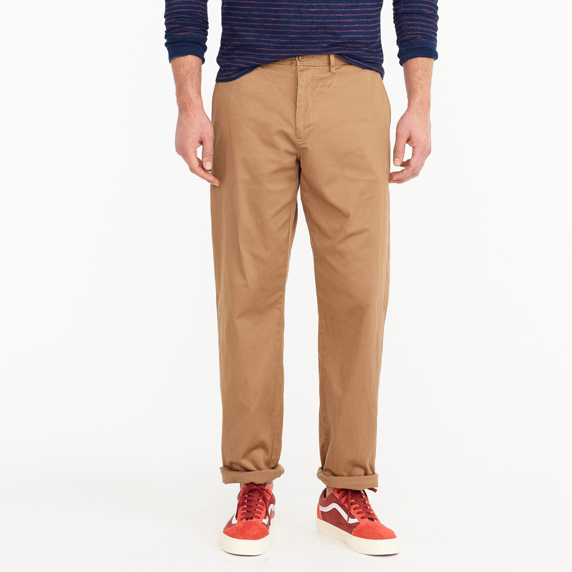Relaxed fit stretch chino