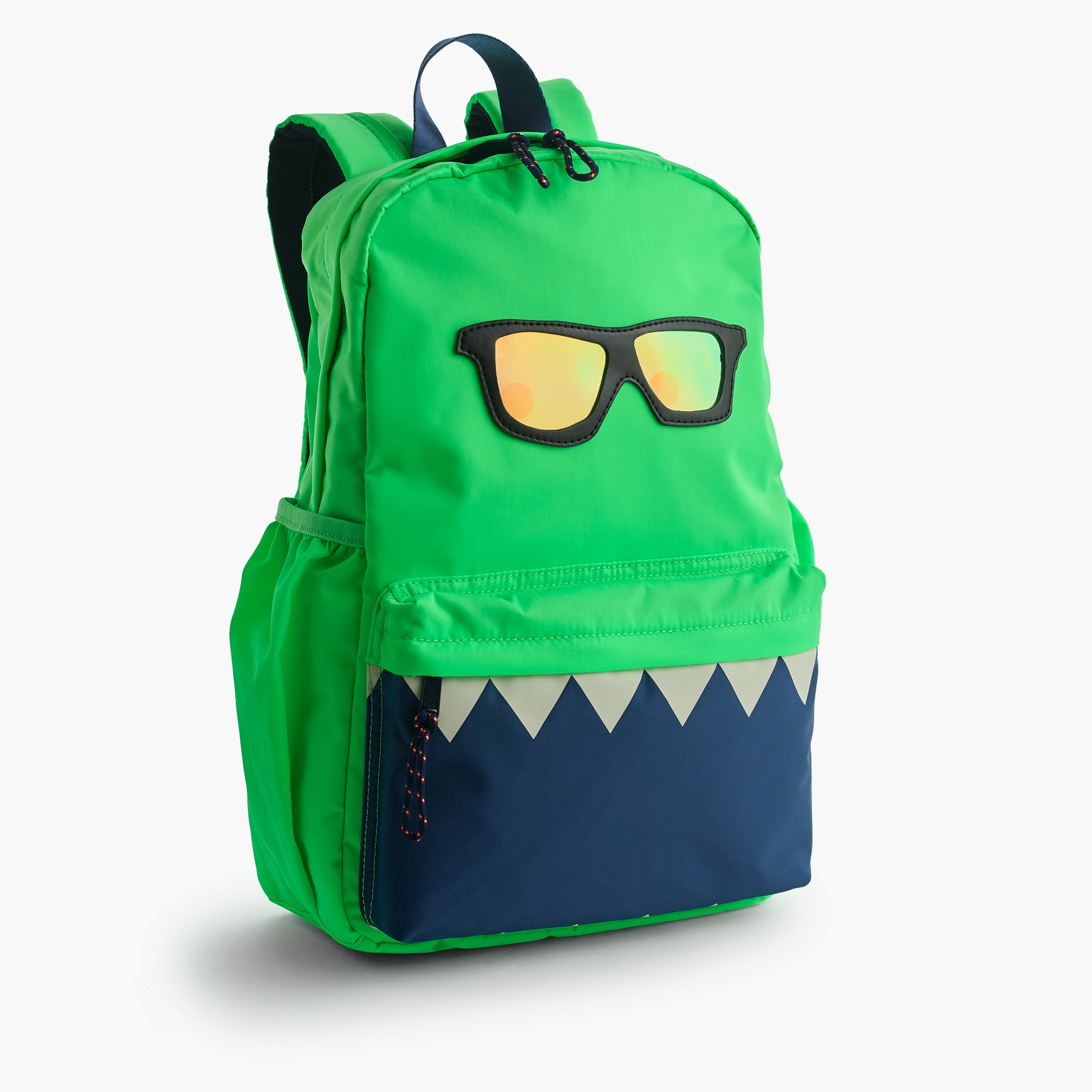 Kids' glow-in-the-dark snaggletooth monster backpack