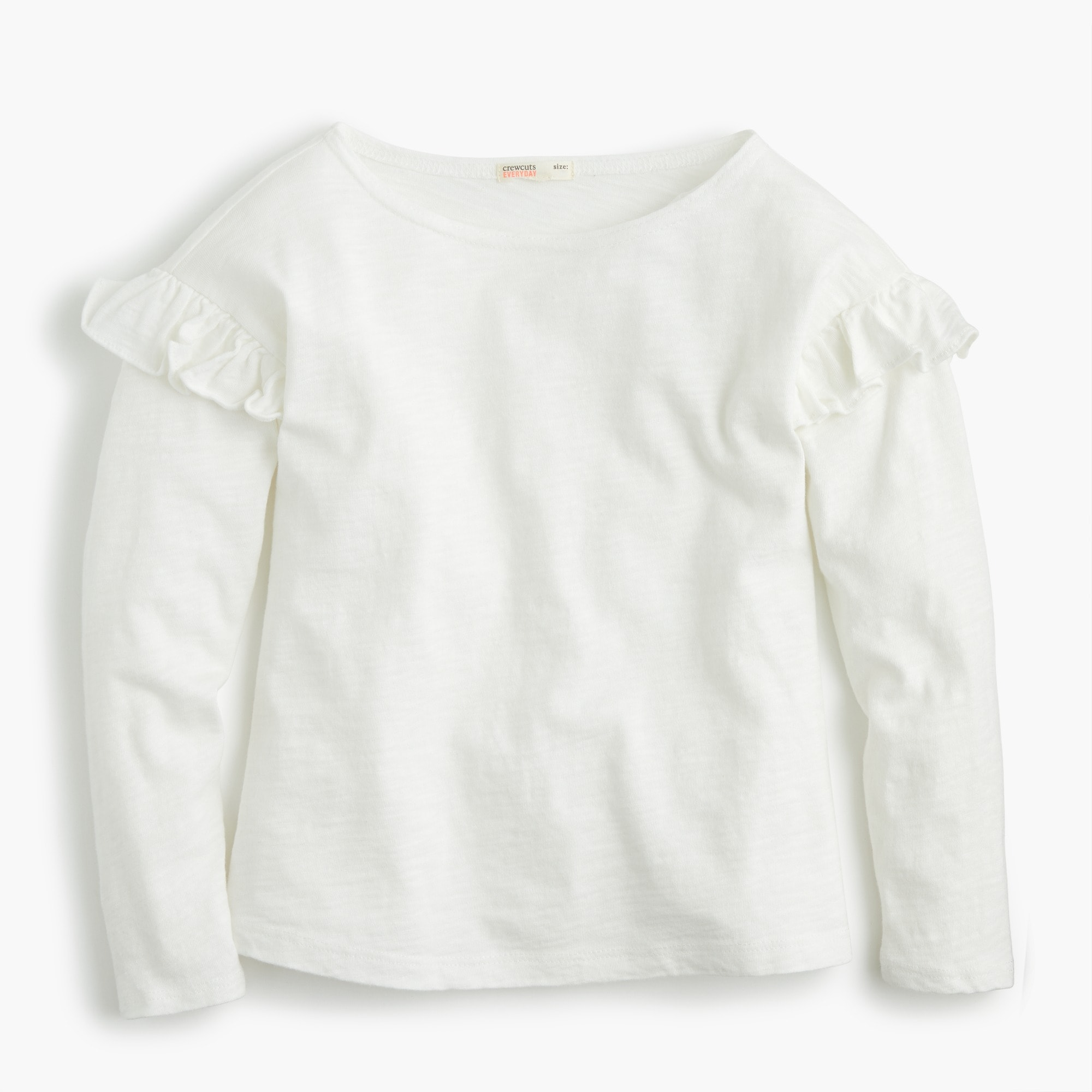 Girls' long-sleeve T-shirt with ruffles girl new arrivals c