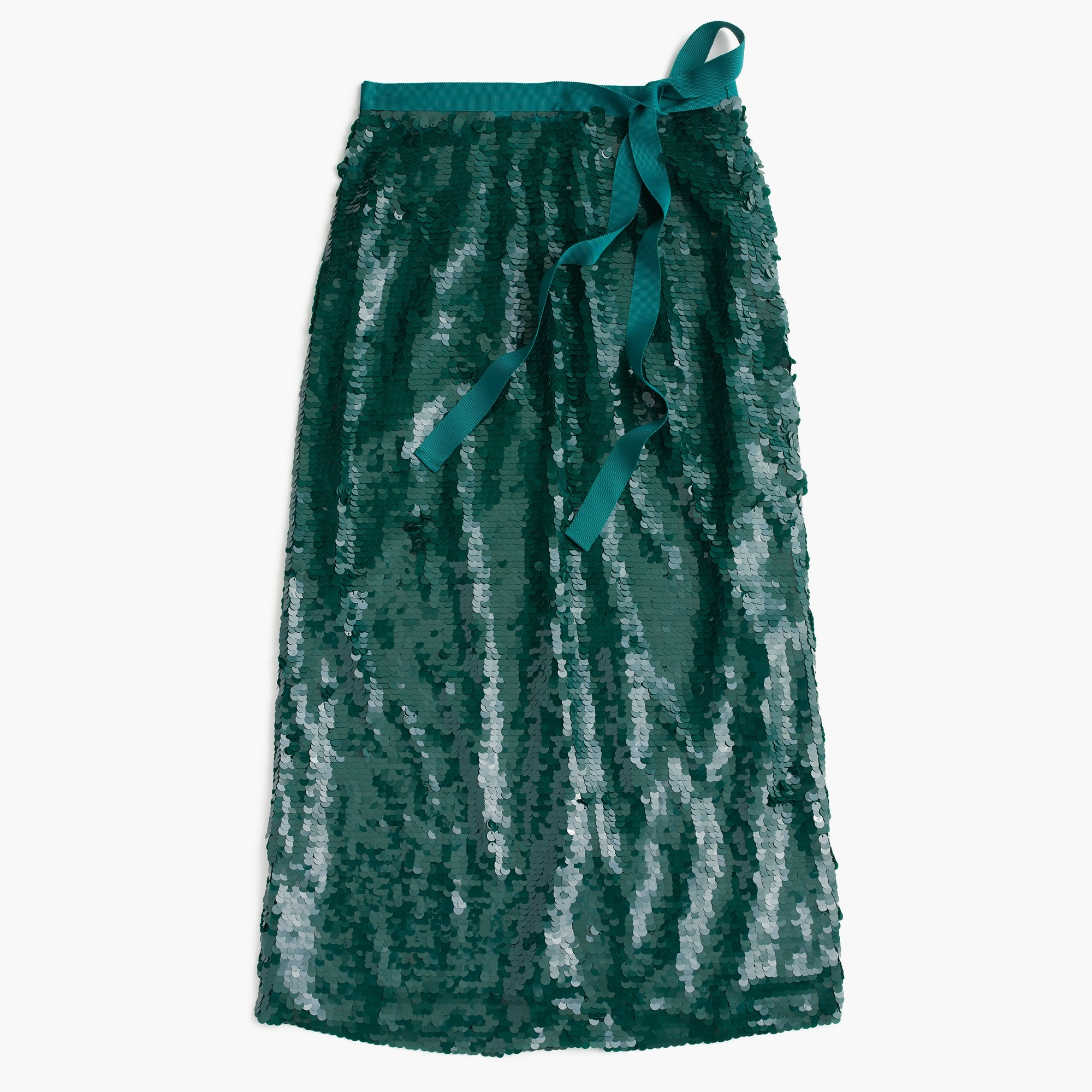 Sequin midi skirt with tie