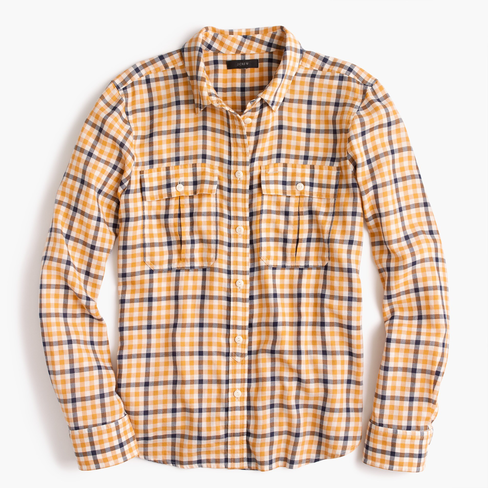 boyfriend shirt in topaz plaid : women shirtsandtops