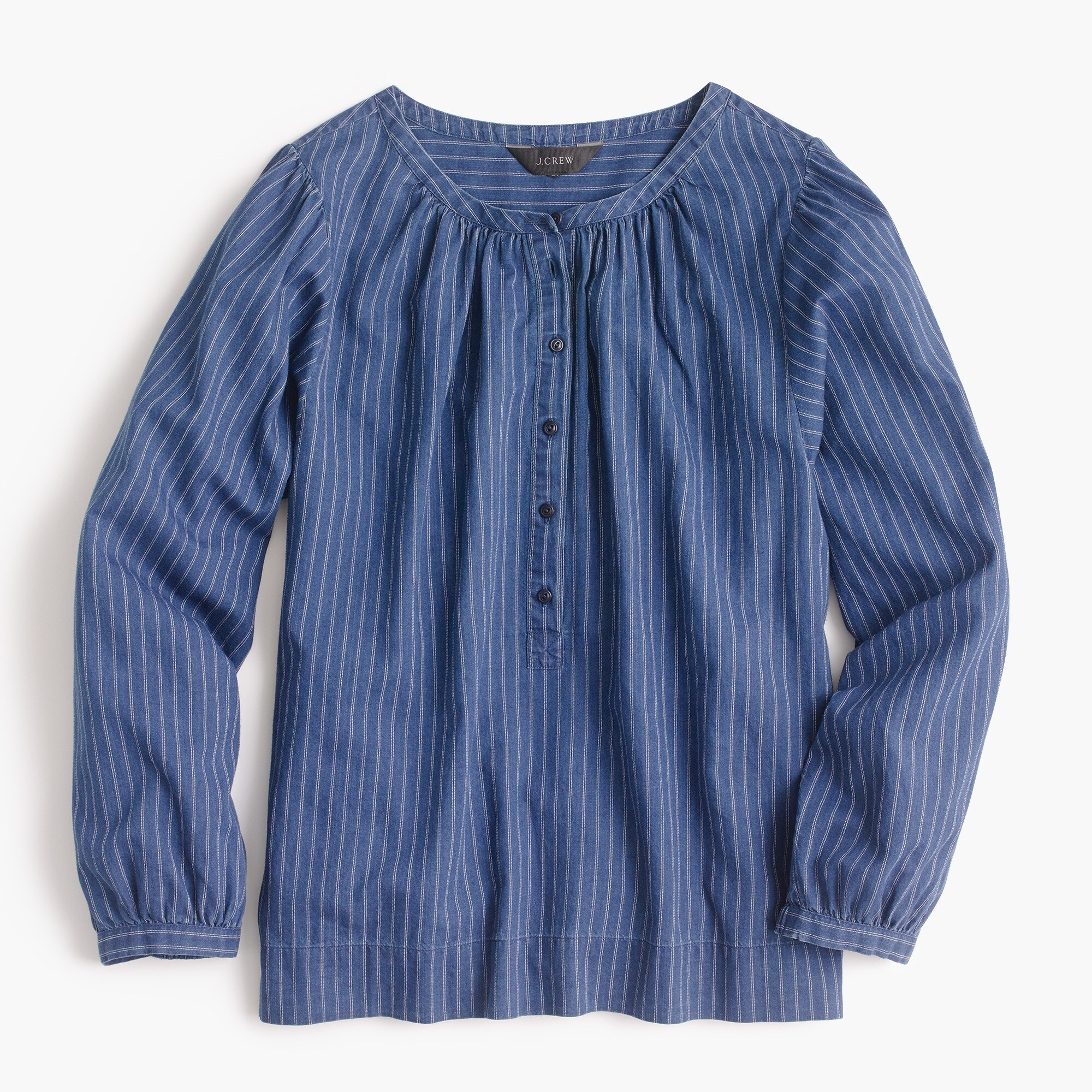 Image 4 for Indigo gauze popover shirt
