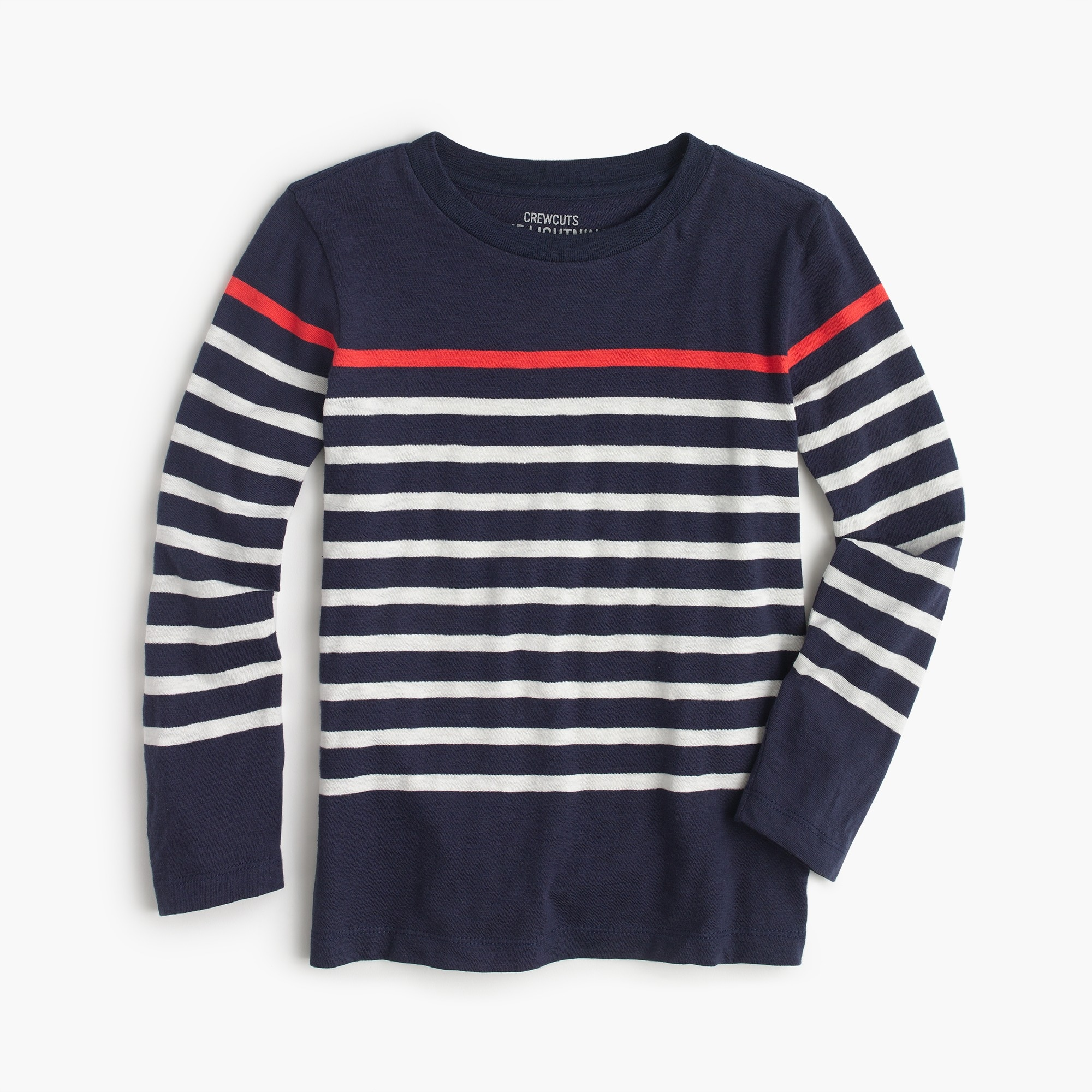 Boys' long-sleeve striped T-shirt