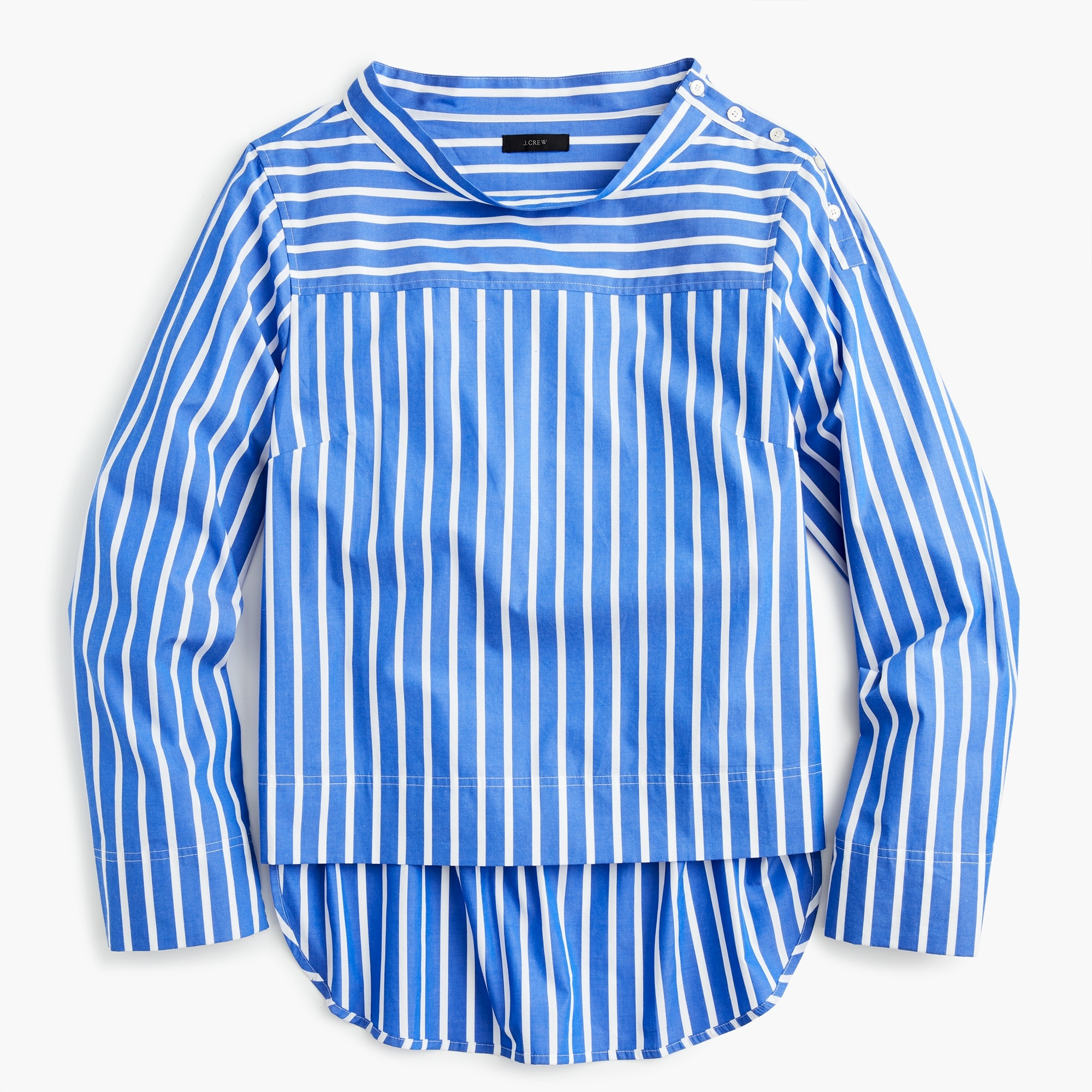 Image 2 for Tall funnelneck striped shirt