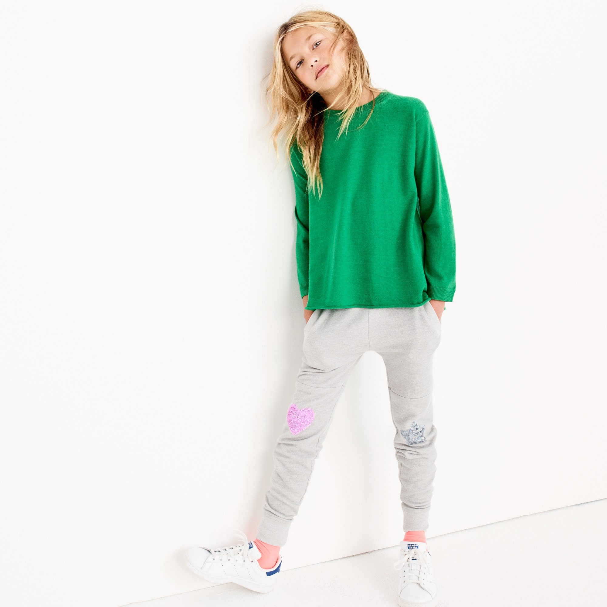 Image 1 for Girls' sequin sweatpant