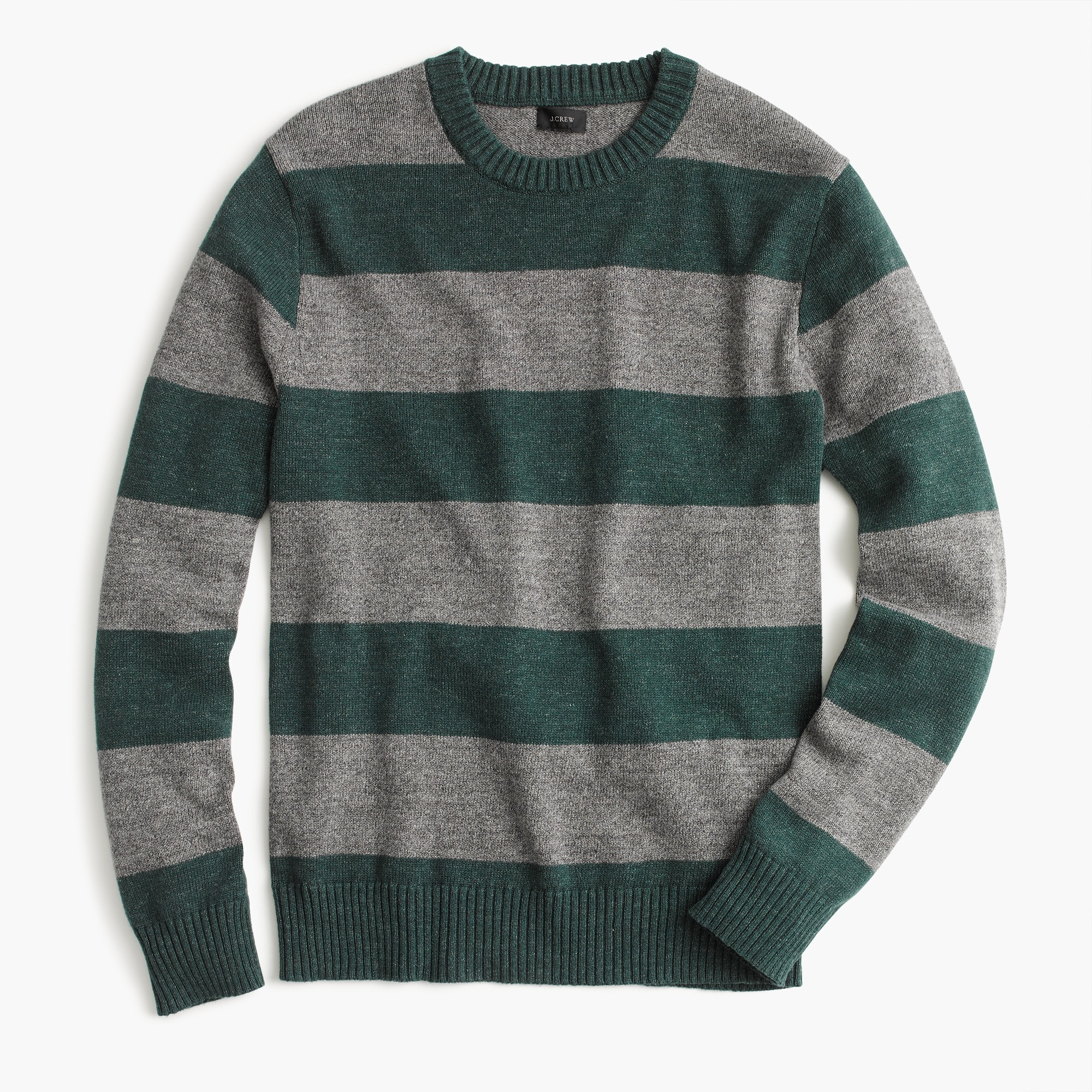 Cotton-wool crewneck sweater in stripe