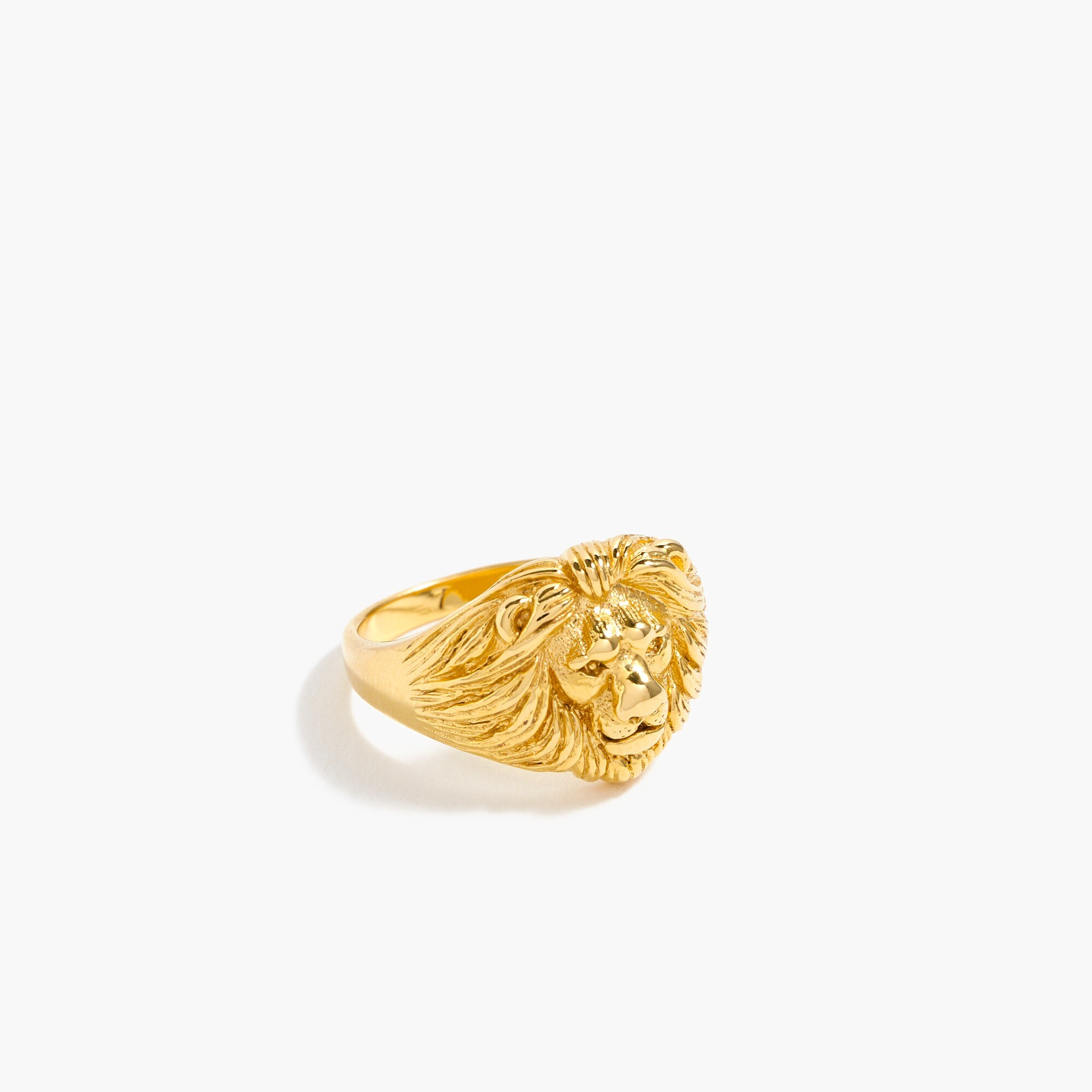 womens Demi-fine 14k gold-plated lion ring