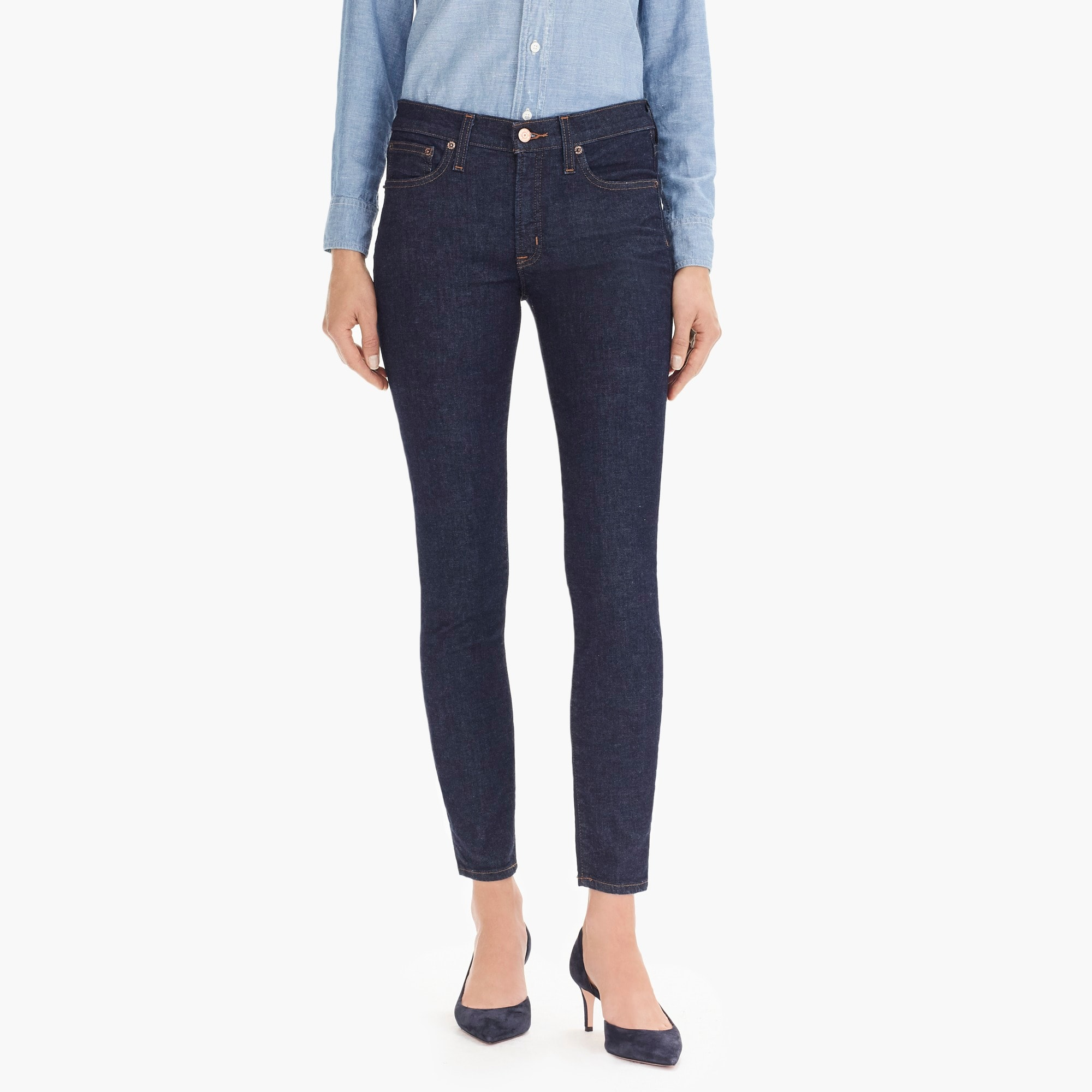 "womens Tall 8"" toothpick in classic wash"