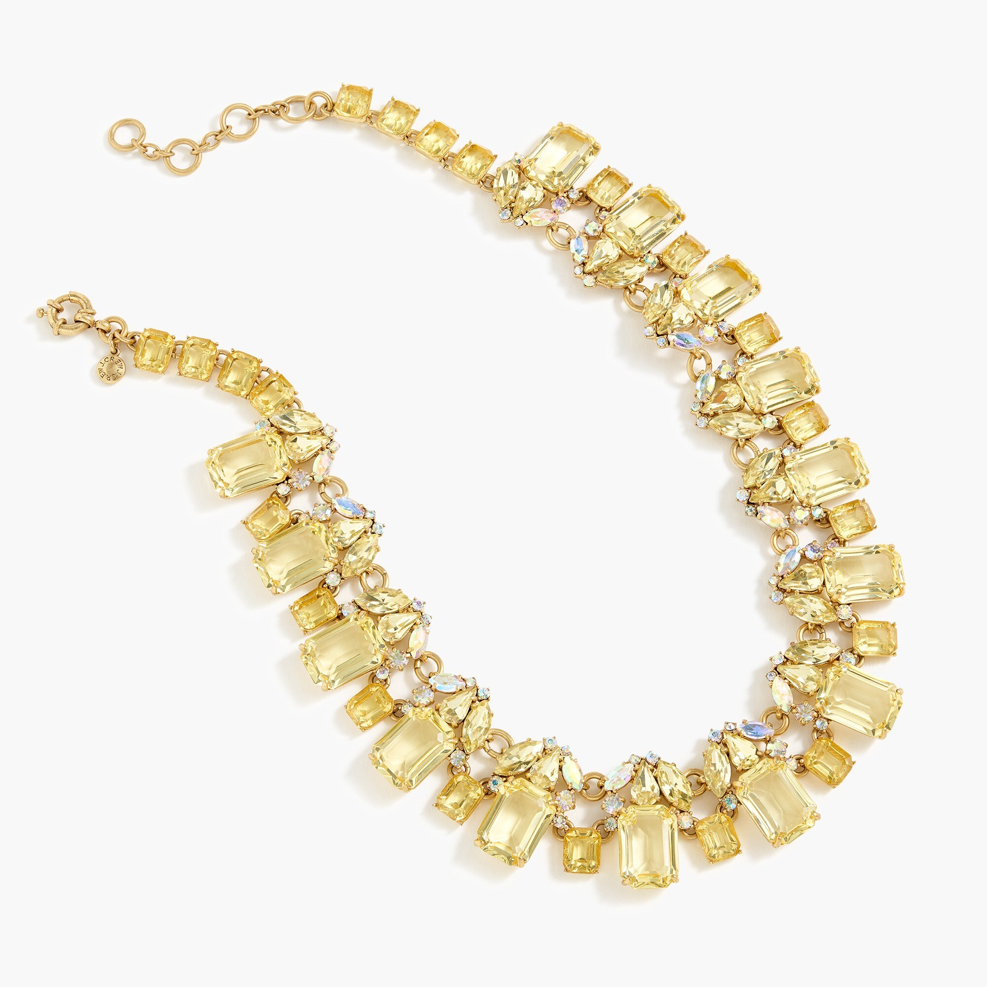 womens Cluster drop stone necklace