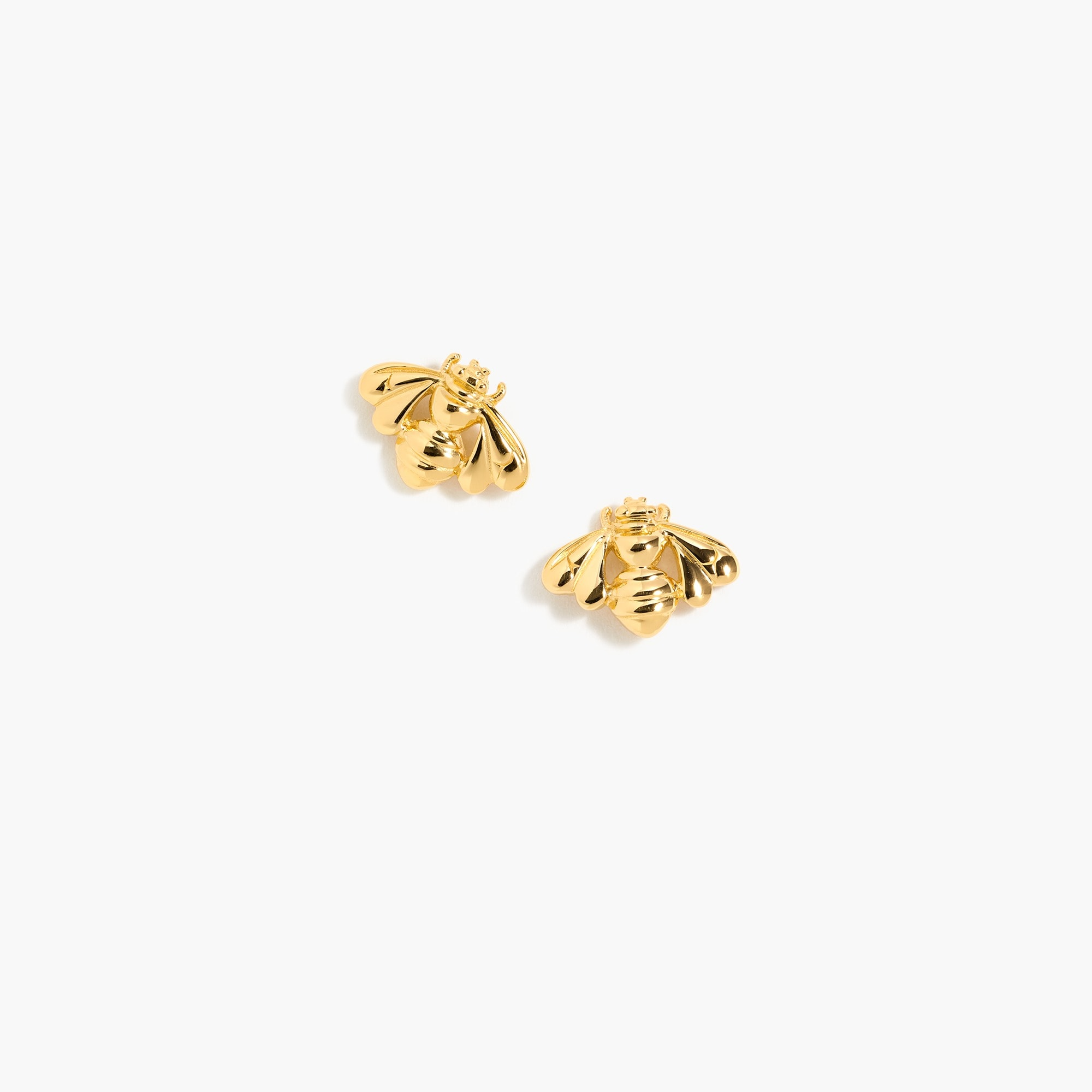 demi-fine 14k gold-plated bee earrings : women demi fine