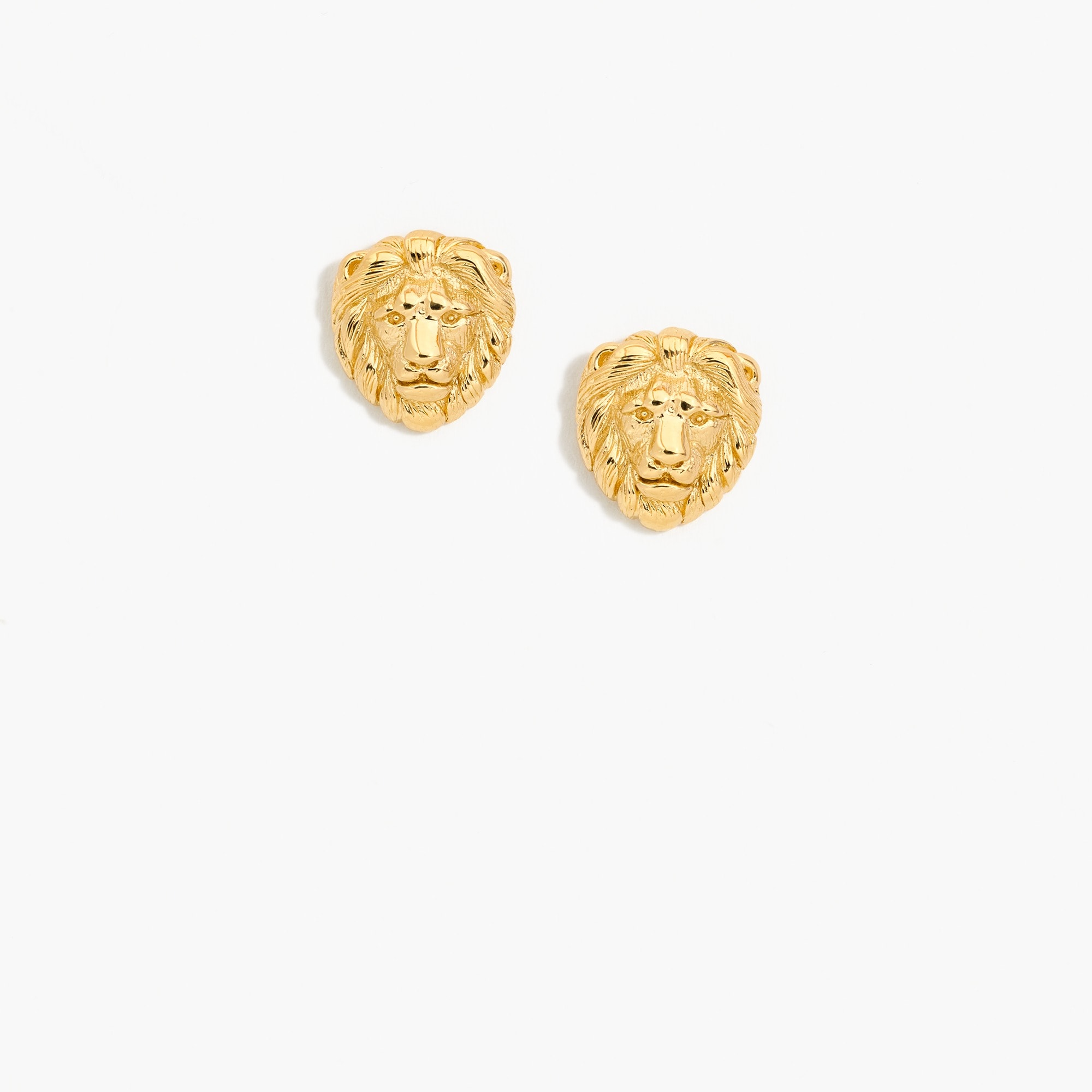 Demi-fine 14k gold-plated lion earrings