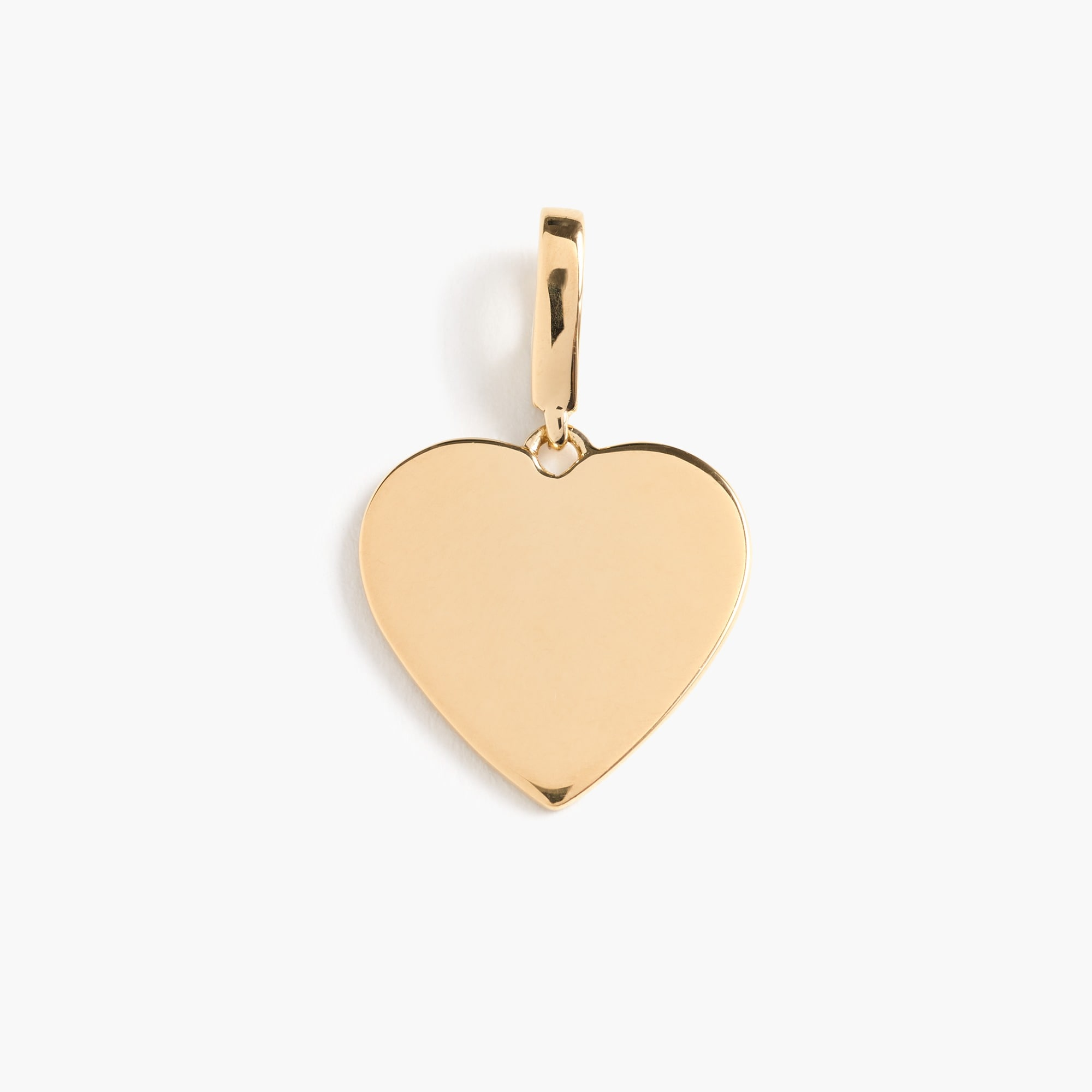 womens Demi-fine 14k gold-plated heart charm
