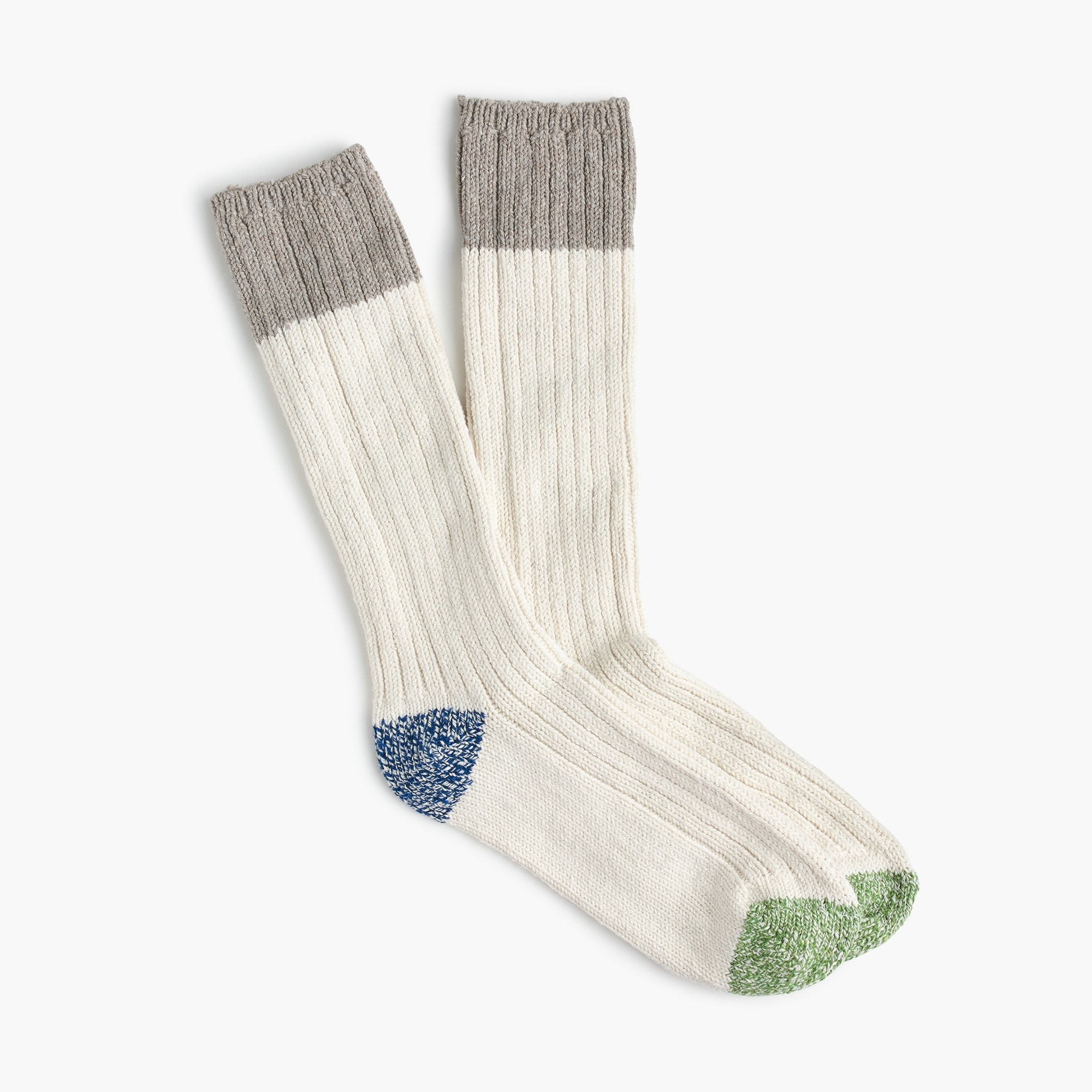 Camp socks in blue-green