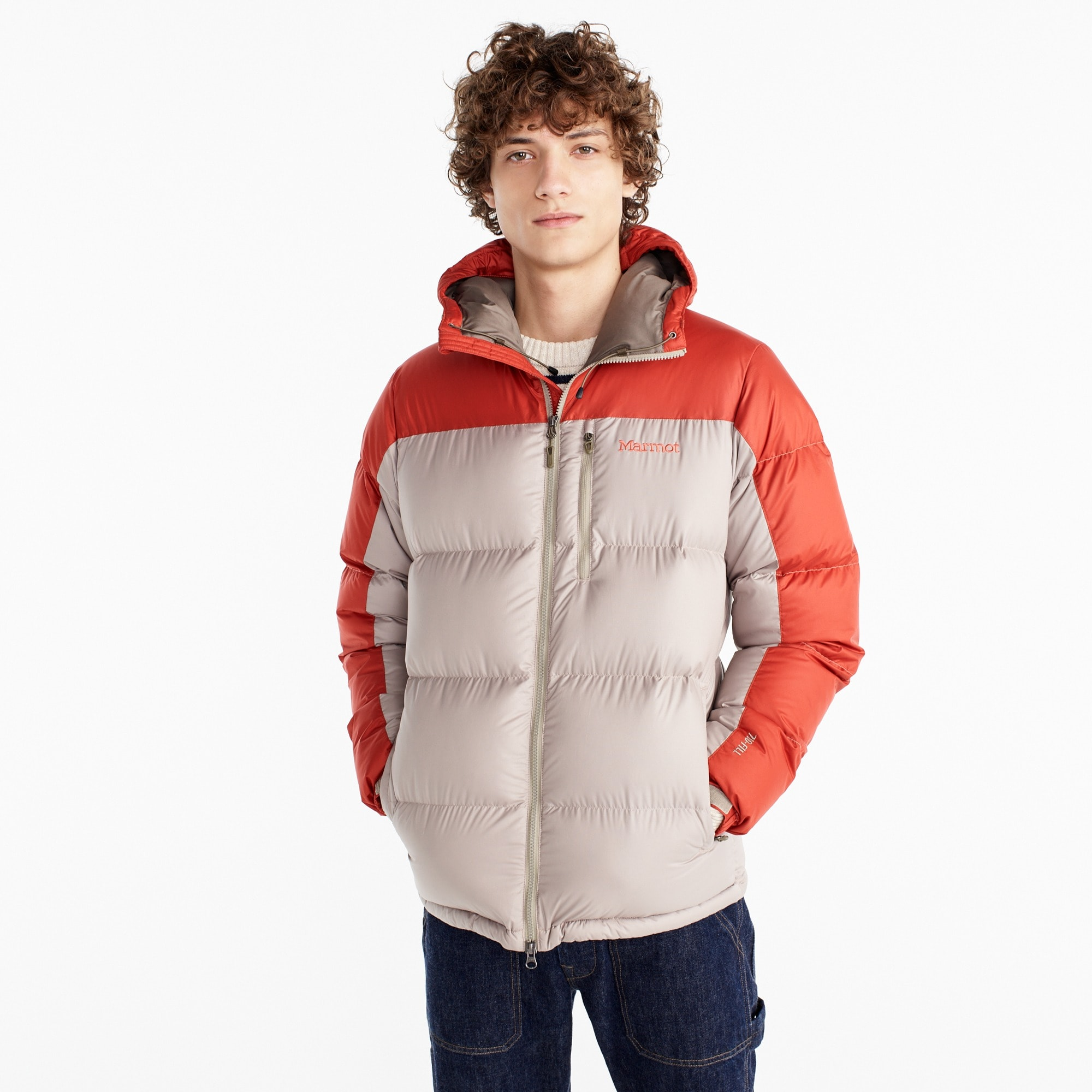 Marmot® for J.Crew Guides down hoodie men j.crew in good company c