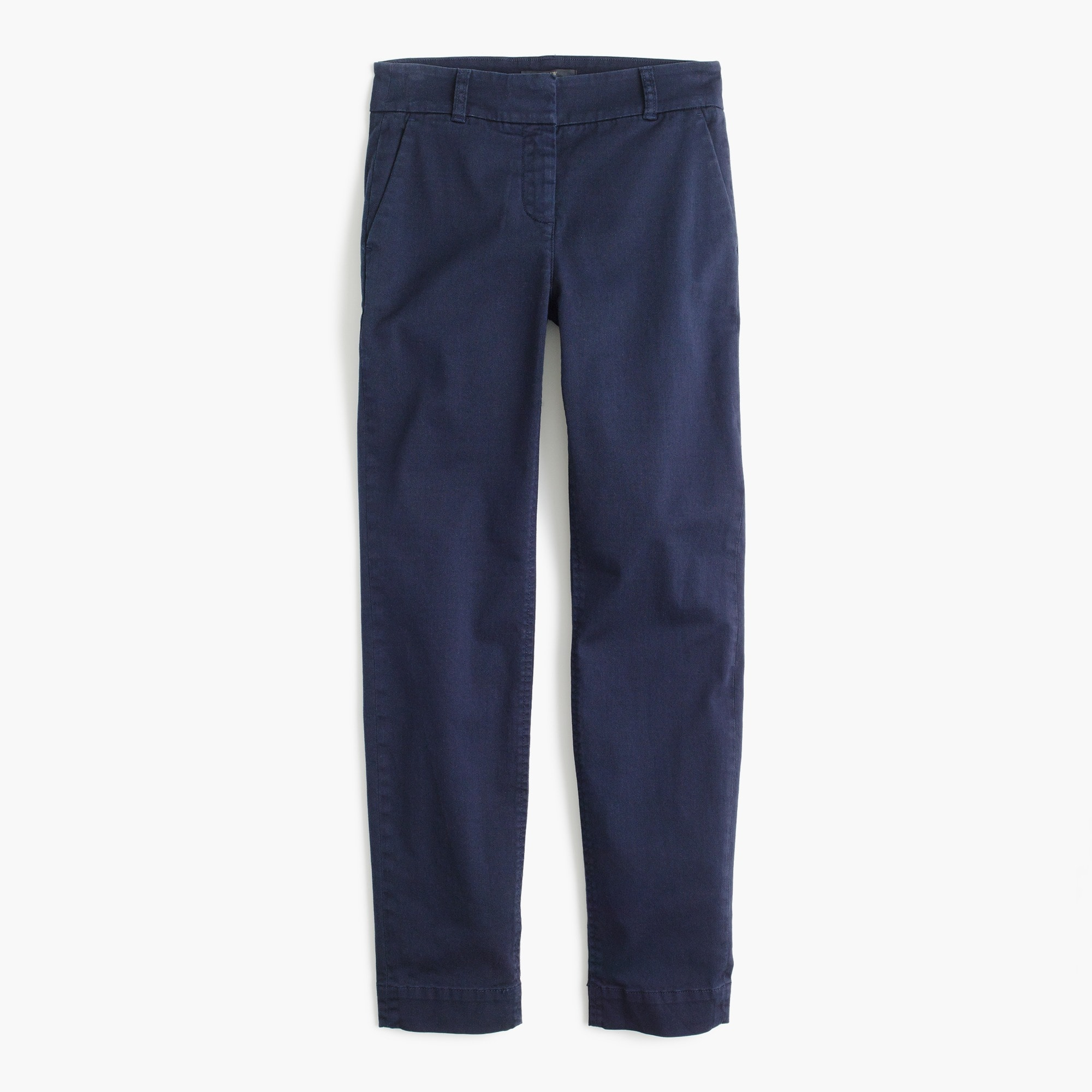 Petitecropped pant in stretch chino