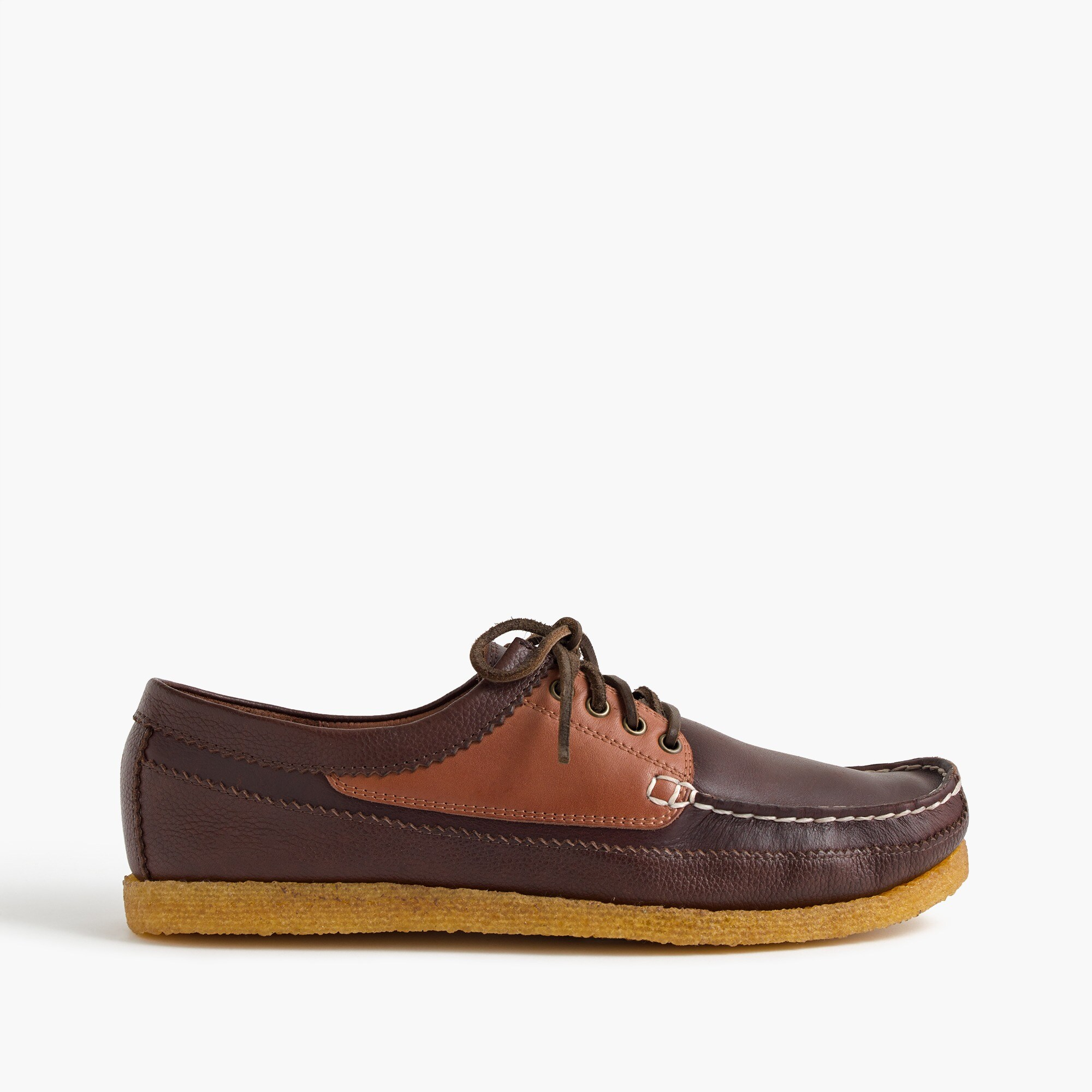 Wallace & Barnes crepe-sole moccasins with 4 eyelets