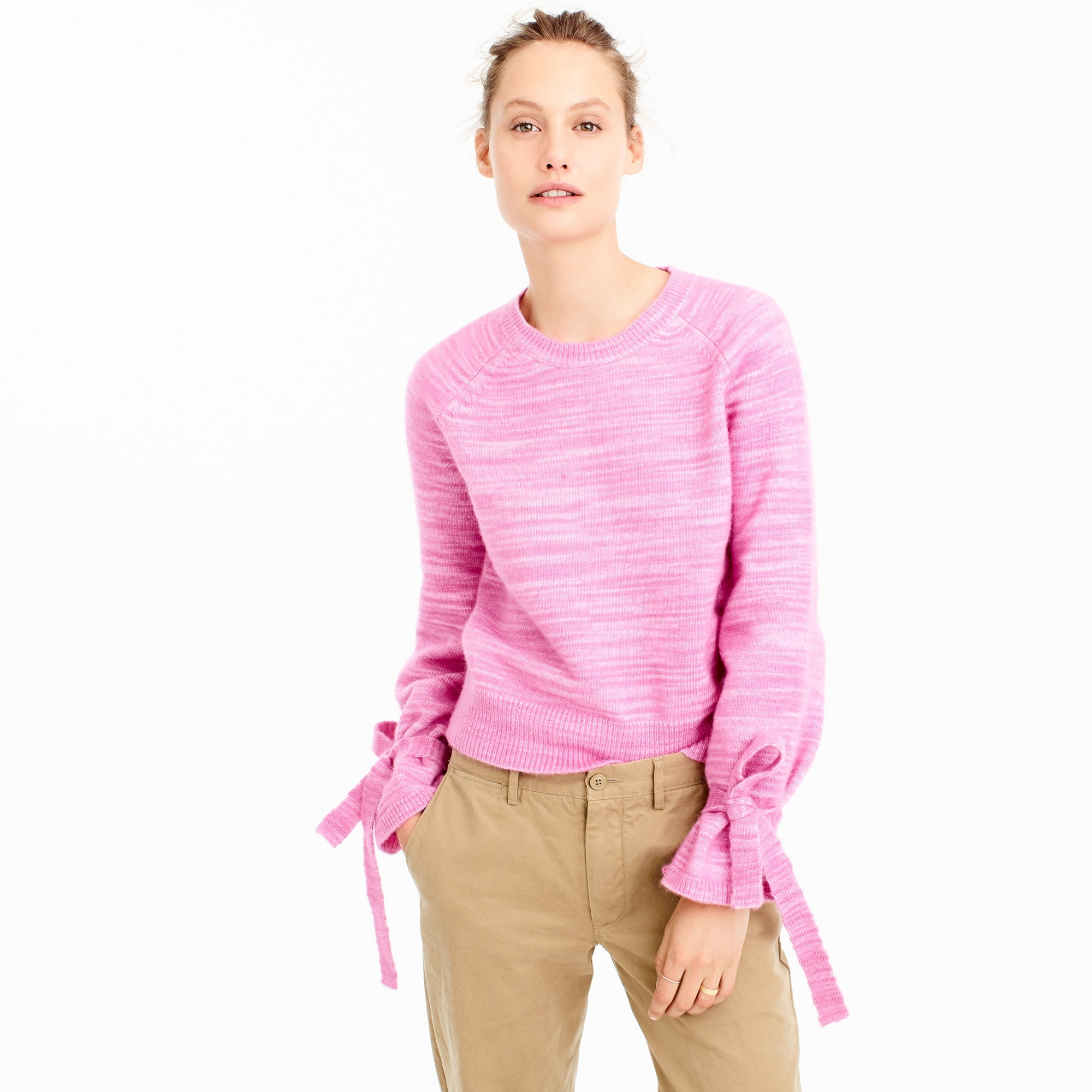 Collection tie-sleeve sweater