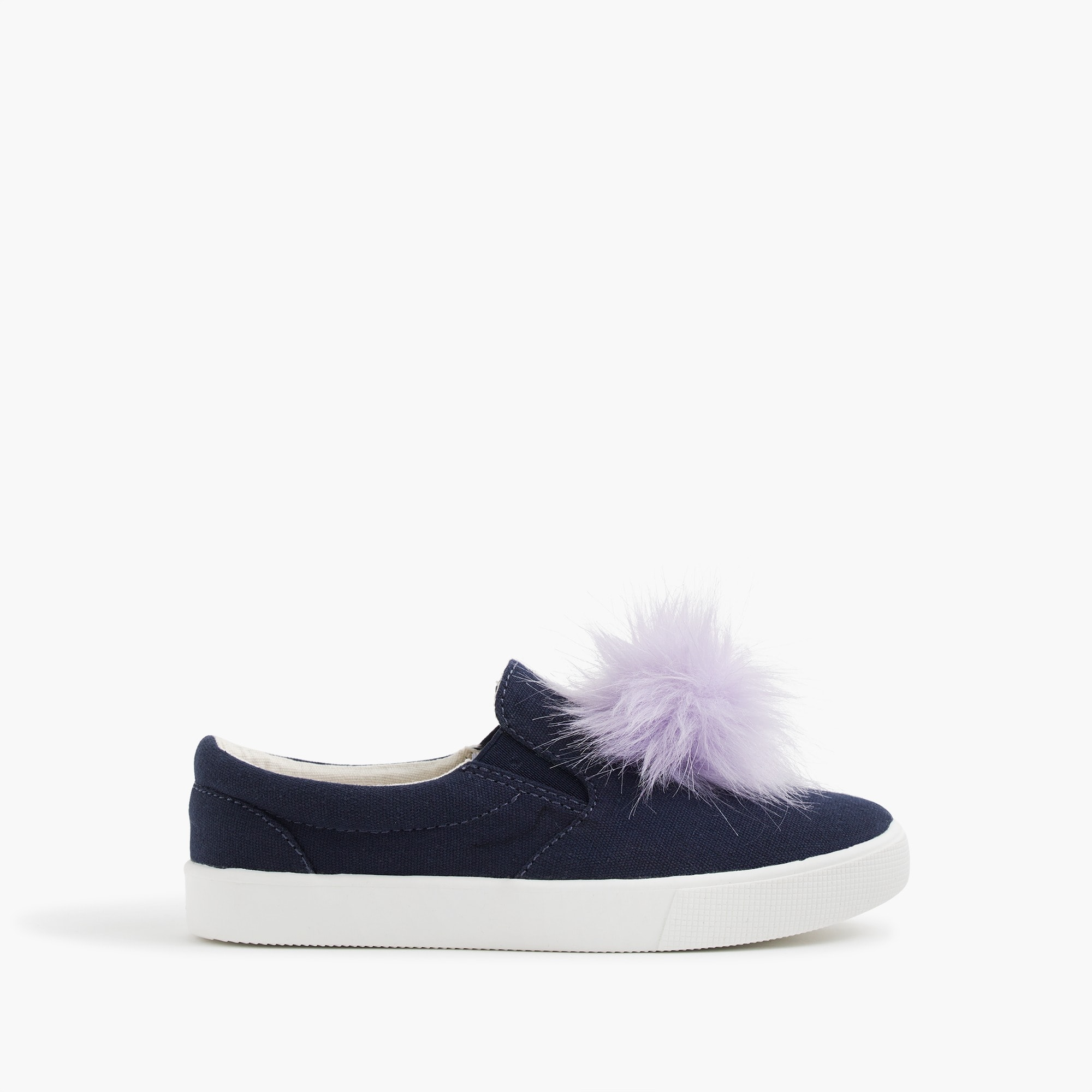 girls' slide sneakers with pom-poms : girl shoes & sneakers